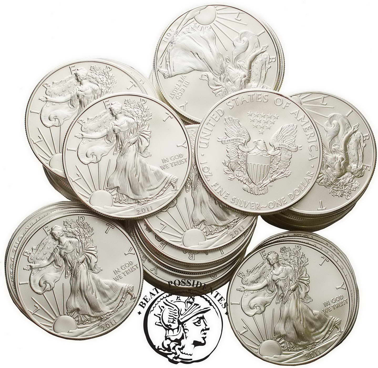 USA 1 Dolar różne lata Uncja Czytego Srebra st.1