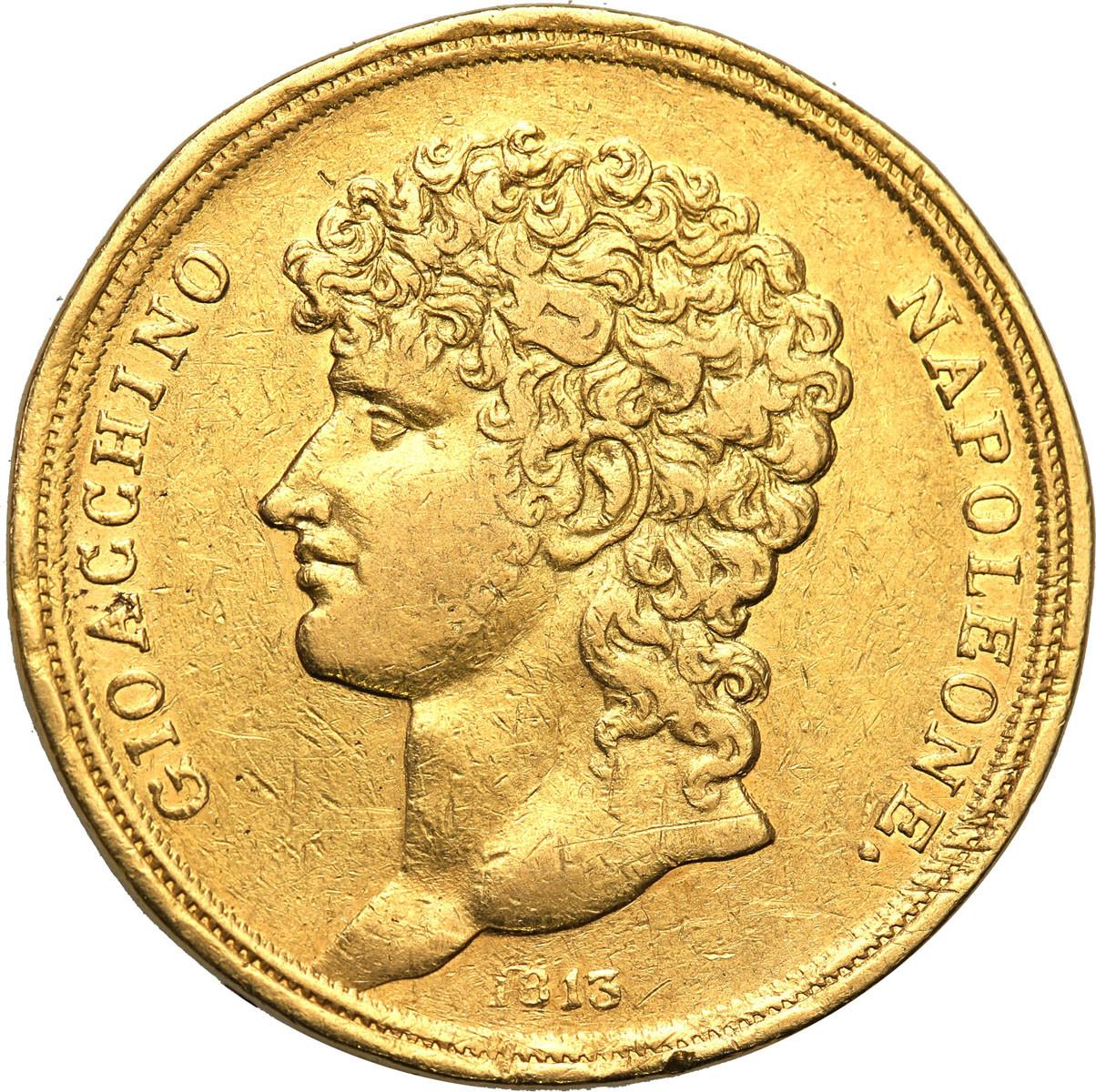Włochy Neapol 40 Lire (40 lirów) 1813 Joachim Murat RZADKA st.3-