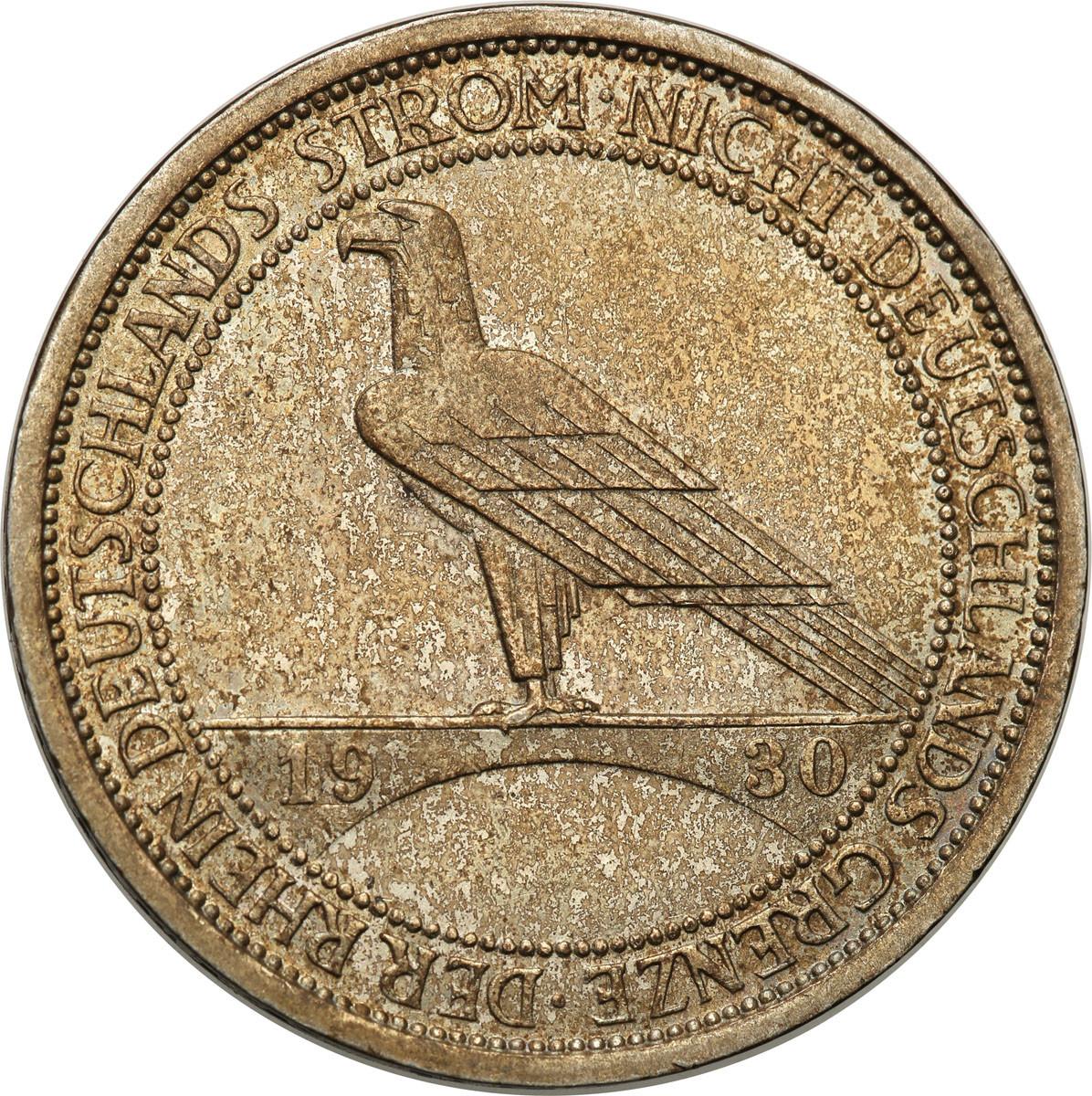 Niemcy Weimar 3 Marki 1930 J Rheinstorm st. 2