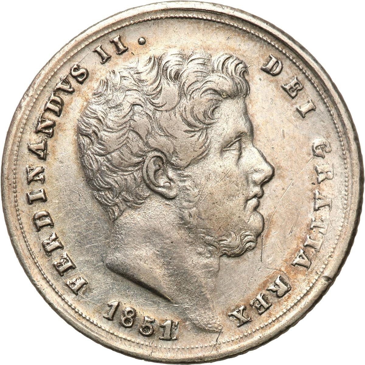 Włochy Neaopol & Sycylia, 20 grana 1851 st.2