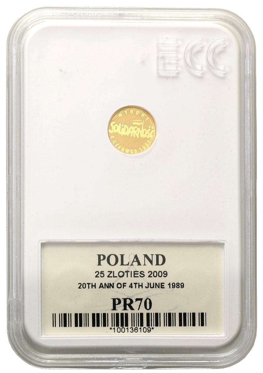 25 złotych 2009 Wybory 4 czerwca 1989 Solidarność  PR70