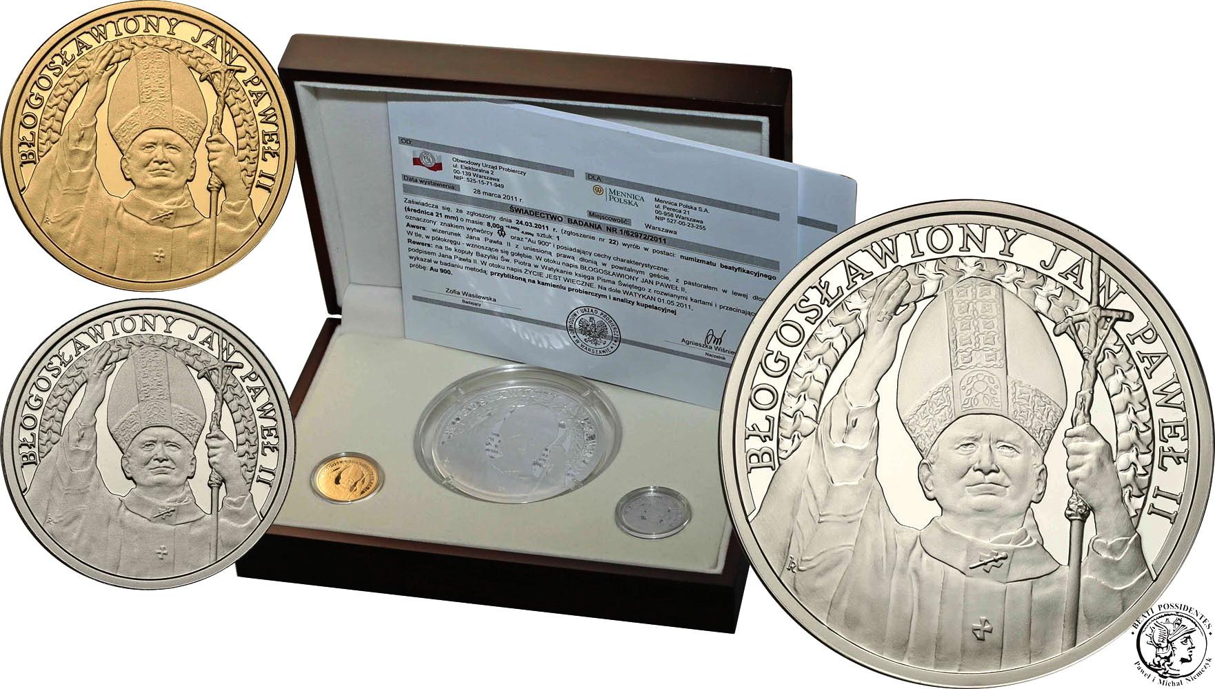 Jan Paweł II Beatyfikacja 2011 medale Mennica Warszawska st.L