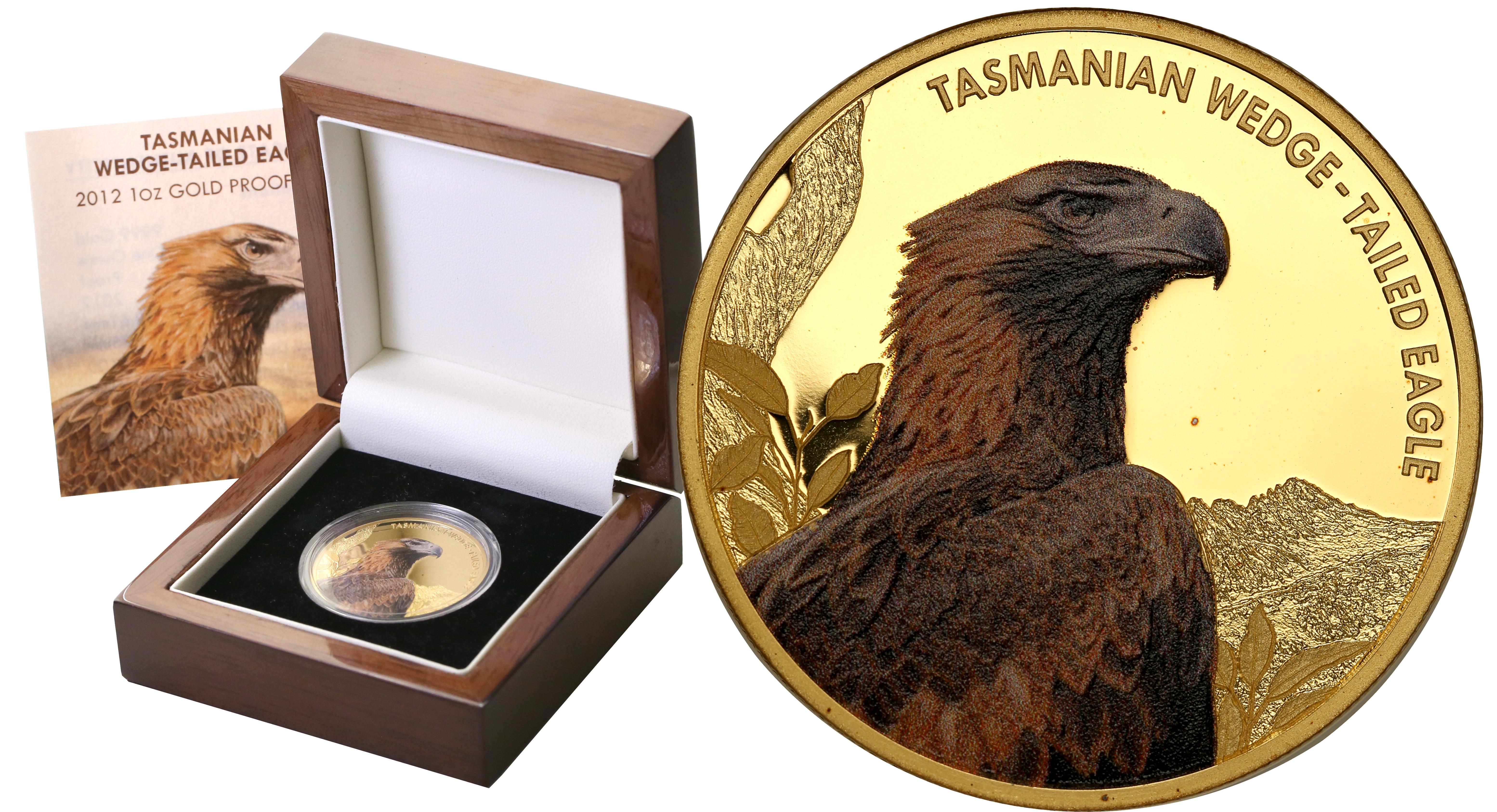 Niue. 100 $ dolarów Orzeł Tasmański 2012 - 1 uncja Złota