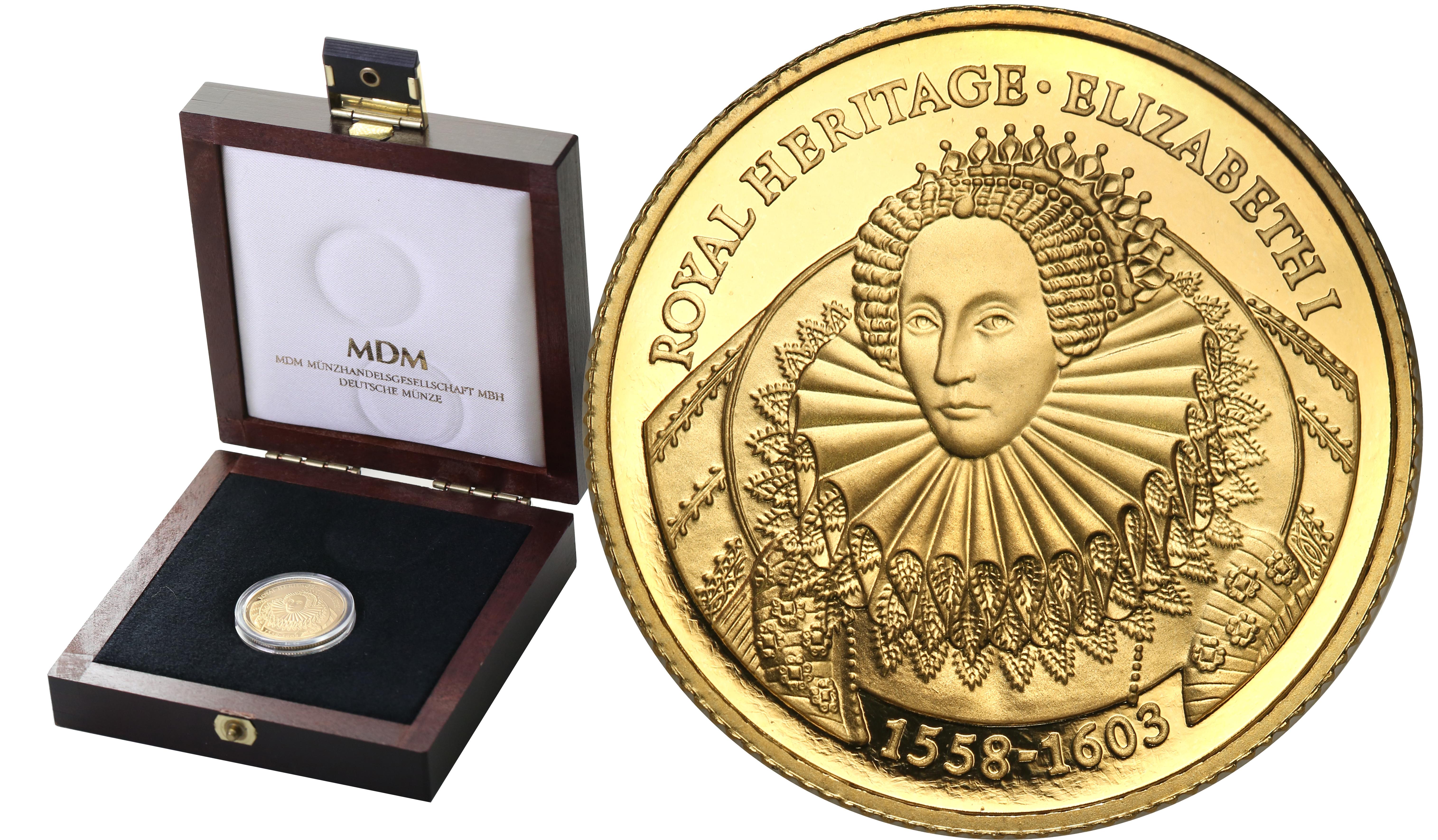 Falklandy. 2 funty 1998 Królowa Elżbieta I - RZADKIE st.L