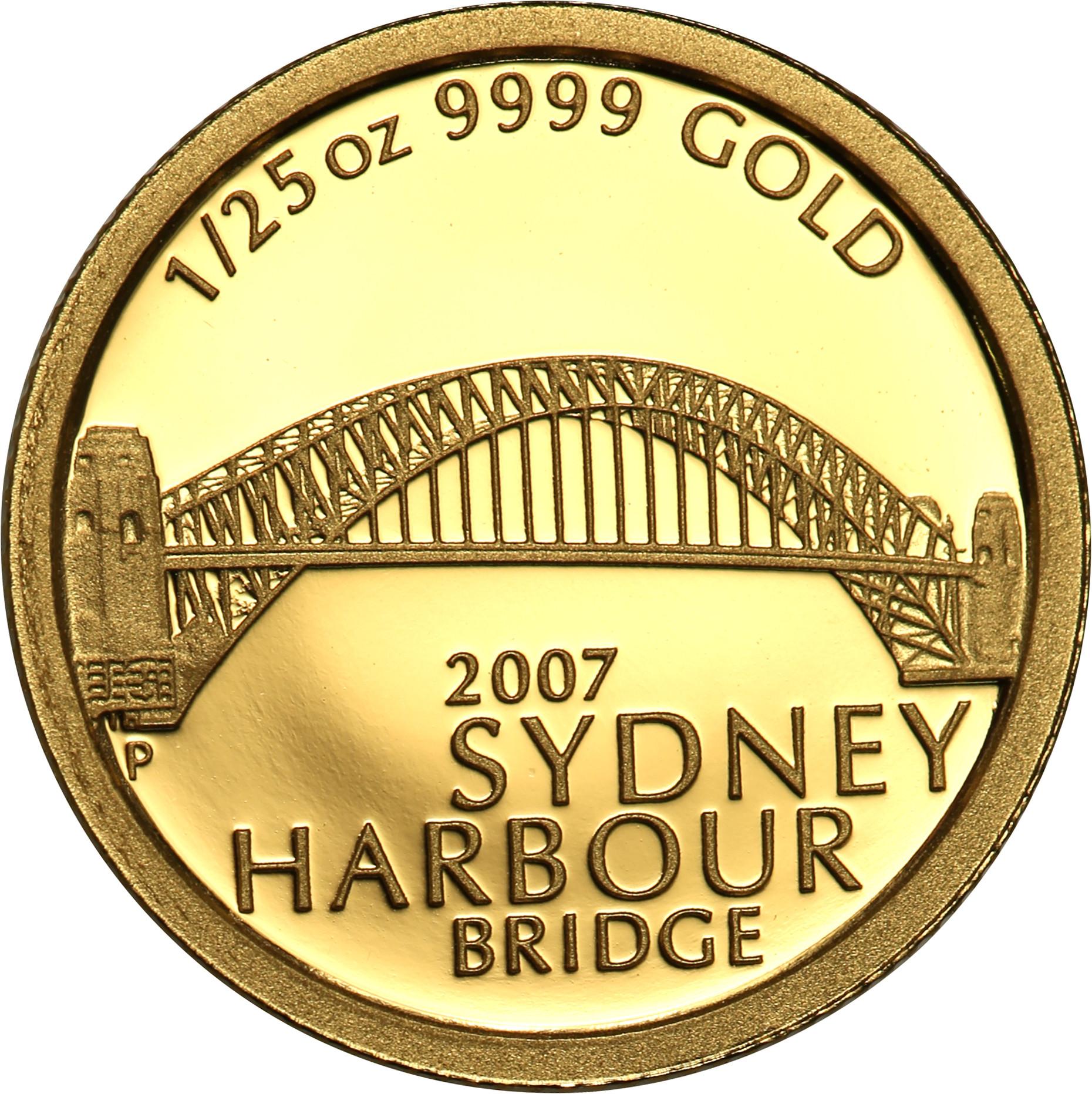 Australia. 5 dolarów 2007 Most Portowy w Sydney st.L
