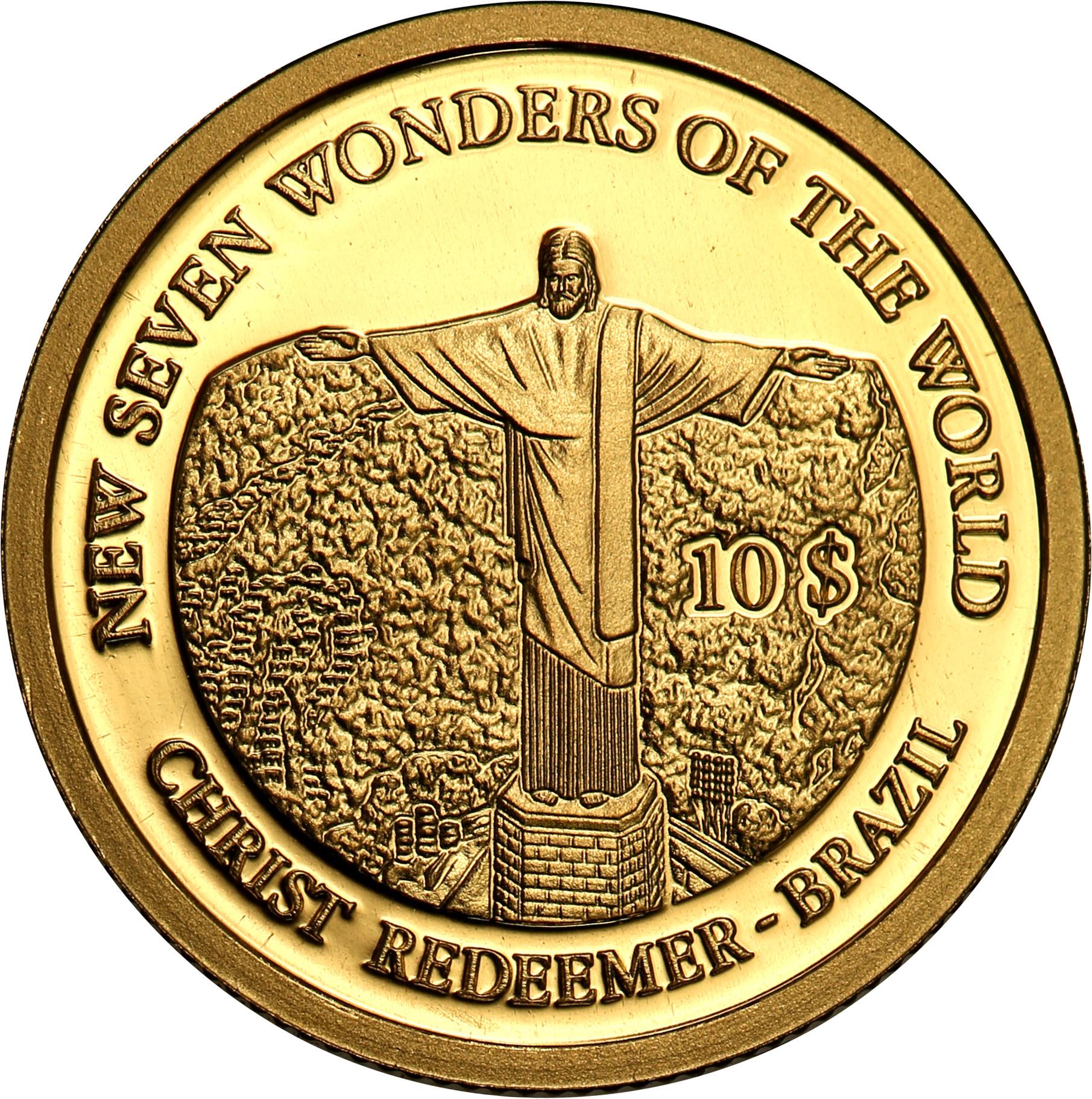 Wyspy Salomona. 10 dolarów Wysp Salomona 2007 Pomnik Chrystusa Zbawiciela st.L