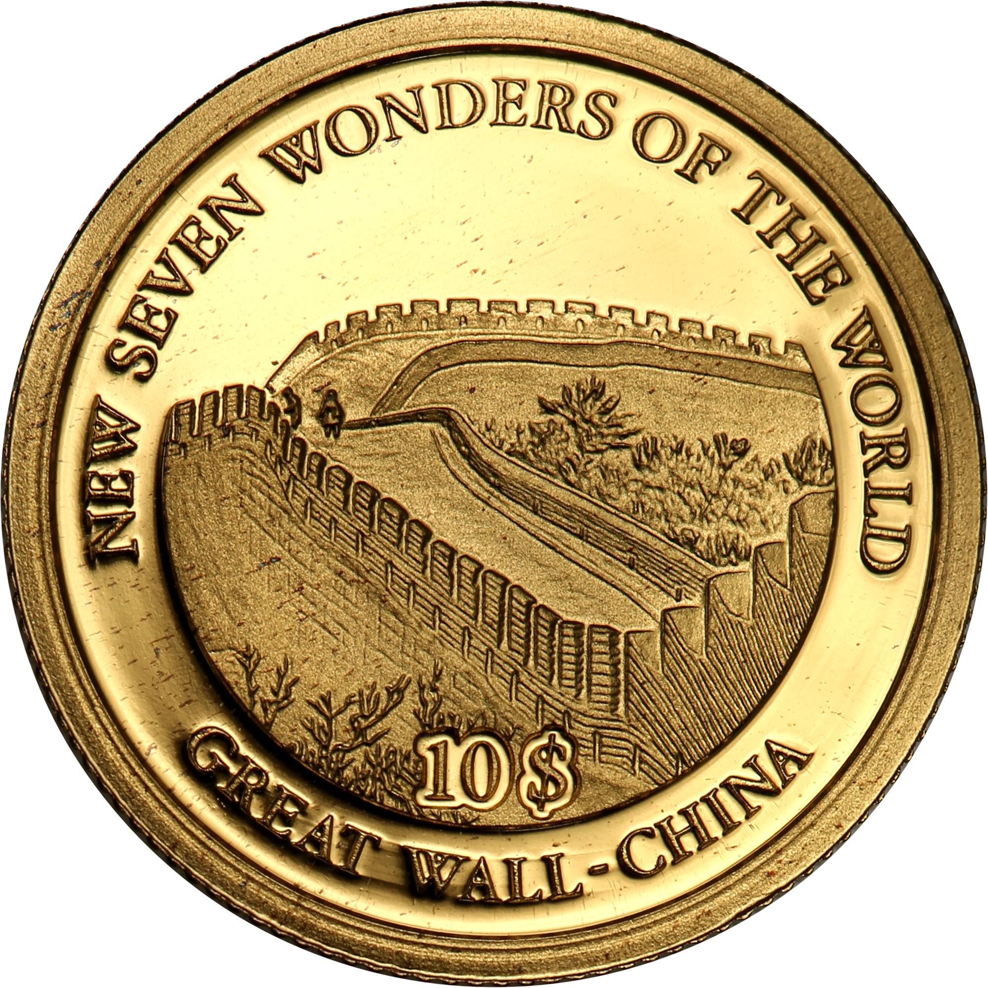 Wyspy Salomona. 10 dolarów Wysp Salomona 2007  Wielki Mur Chiński st.L
