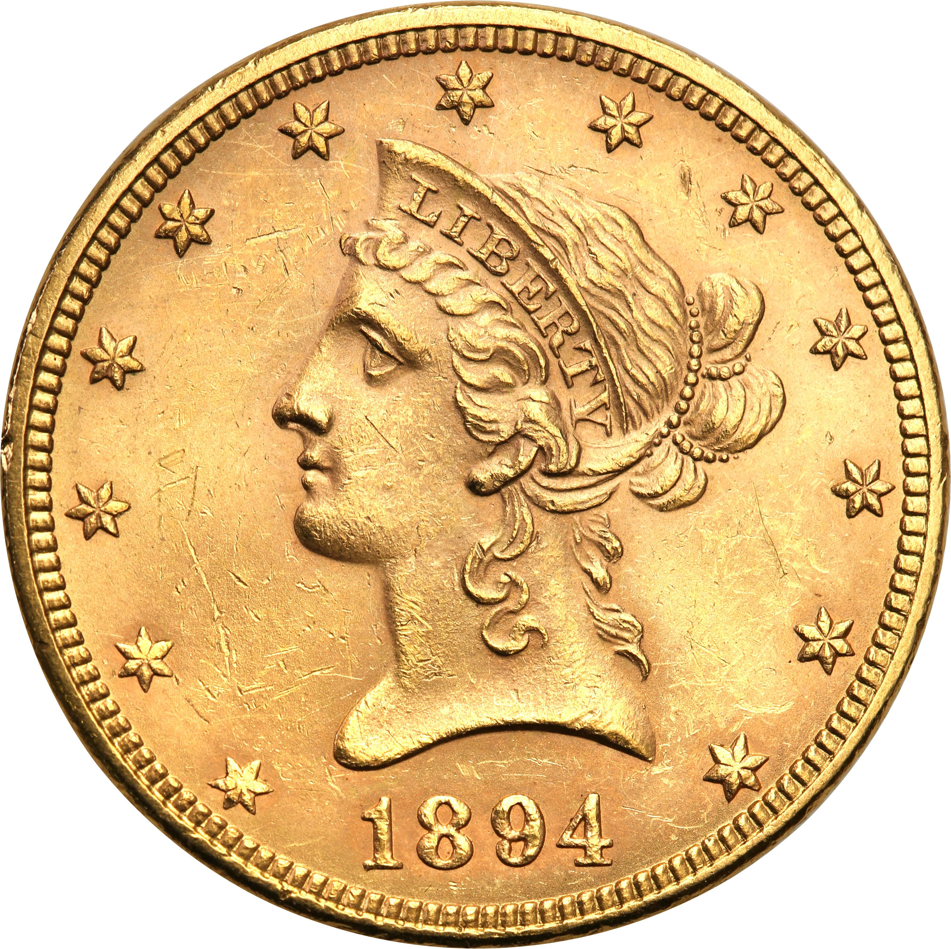USA 10 dolarów 1894 Philadelphia st.1