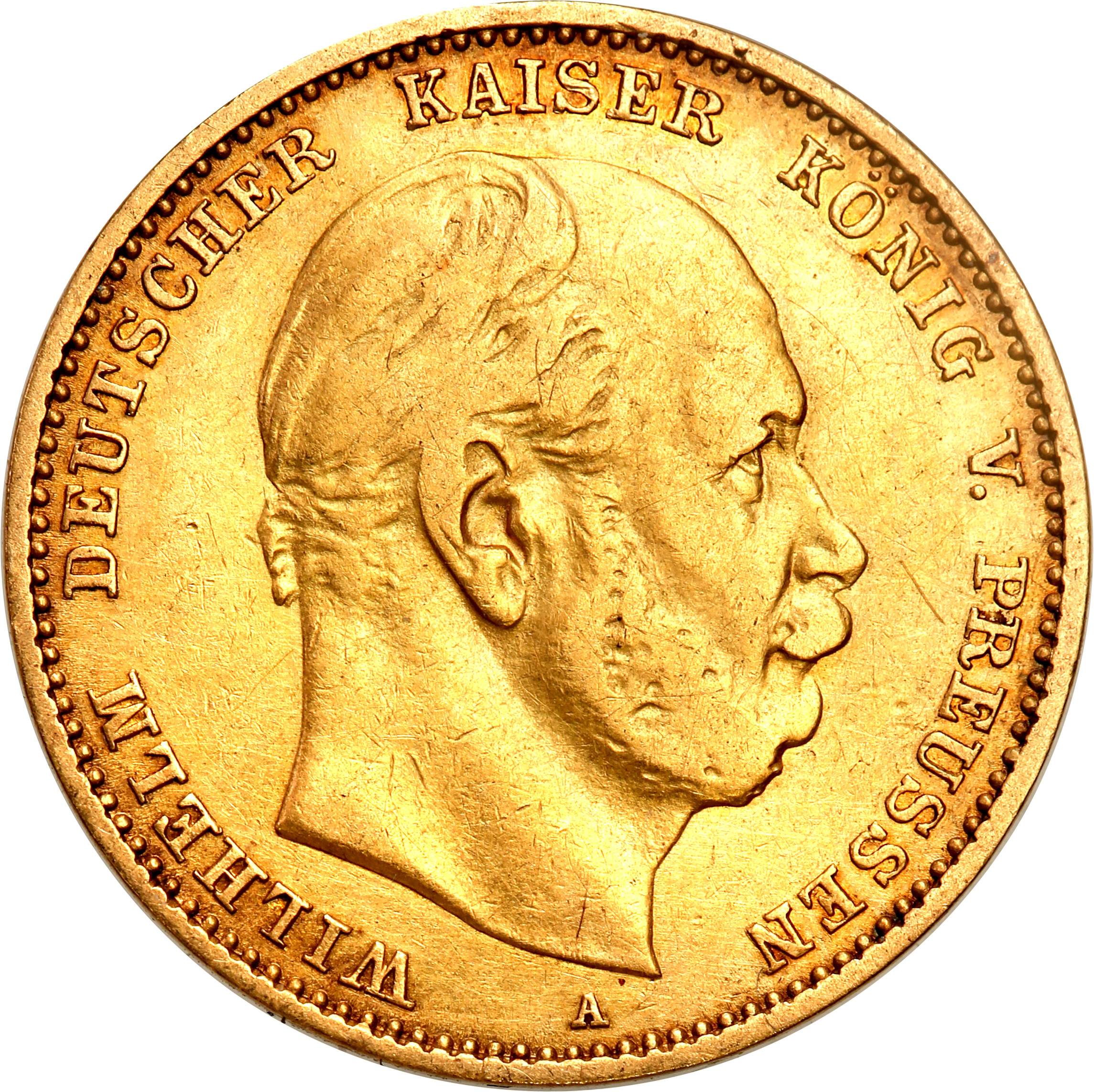 Niemcy Prusy 10 Marek 1880 A st.3+
