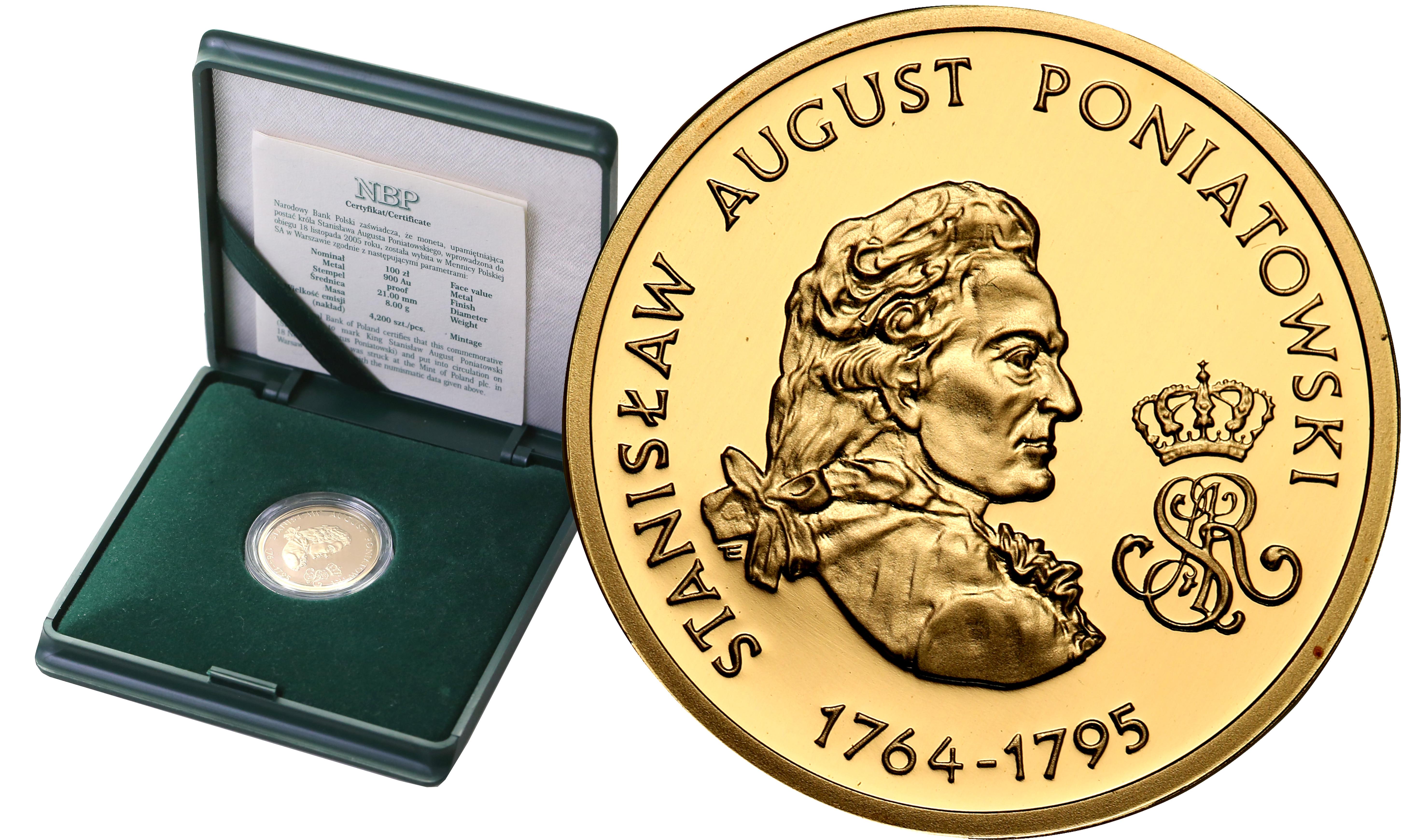 III RP. 100 złotych 2005 Stanisław August Poniatowski st.L