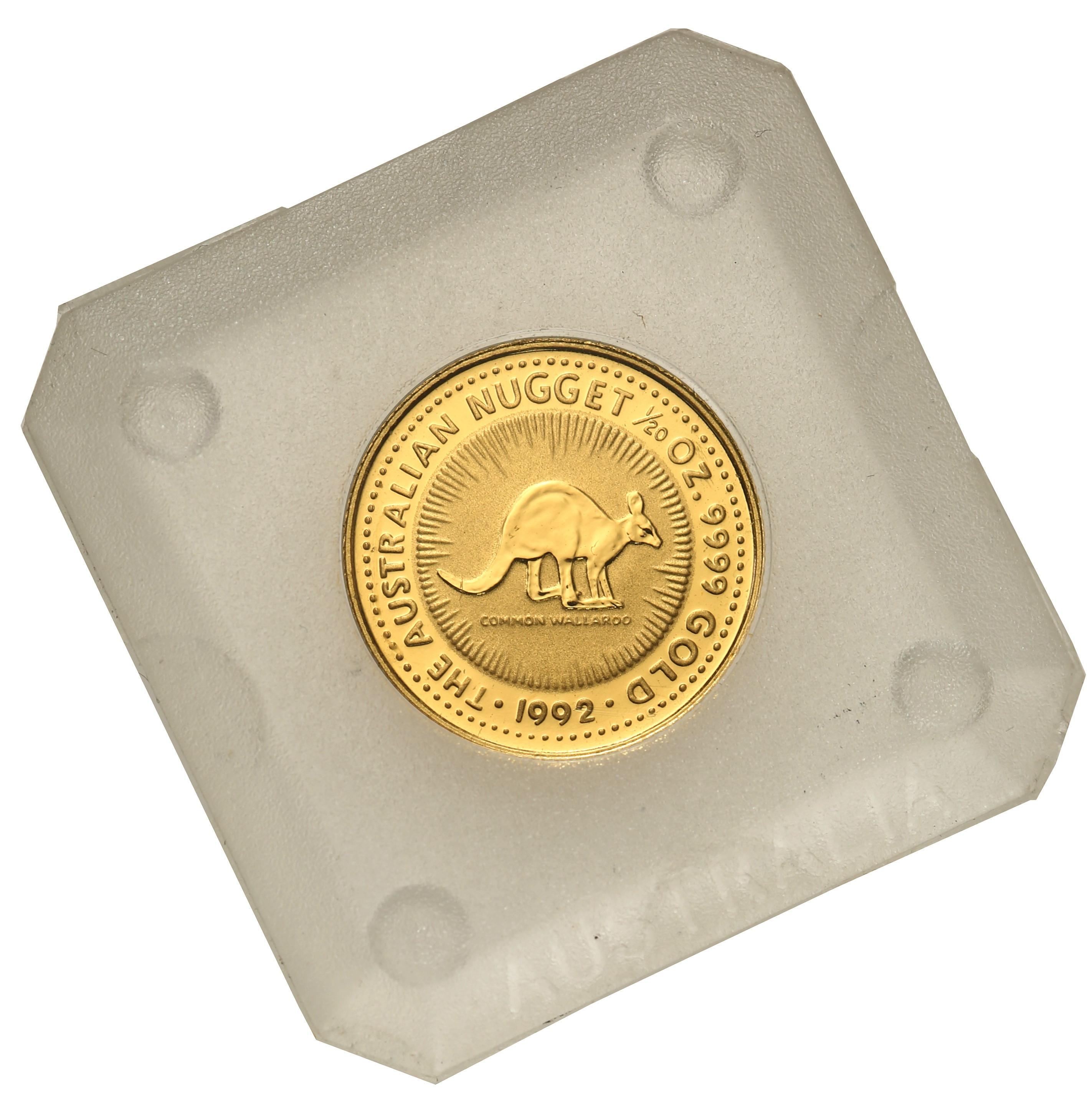 Australia. Elżbieta II 15 Dolarów 1992 kangur st.L – 1/10 uncji złota