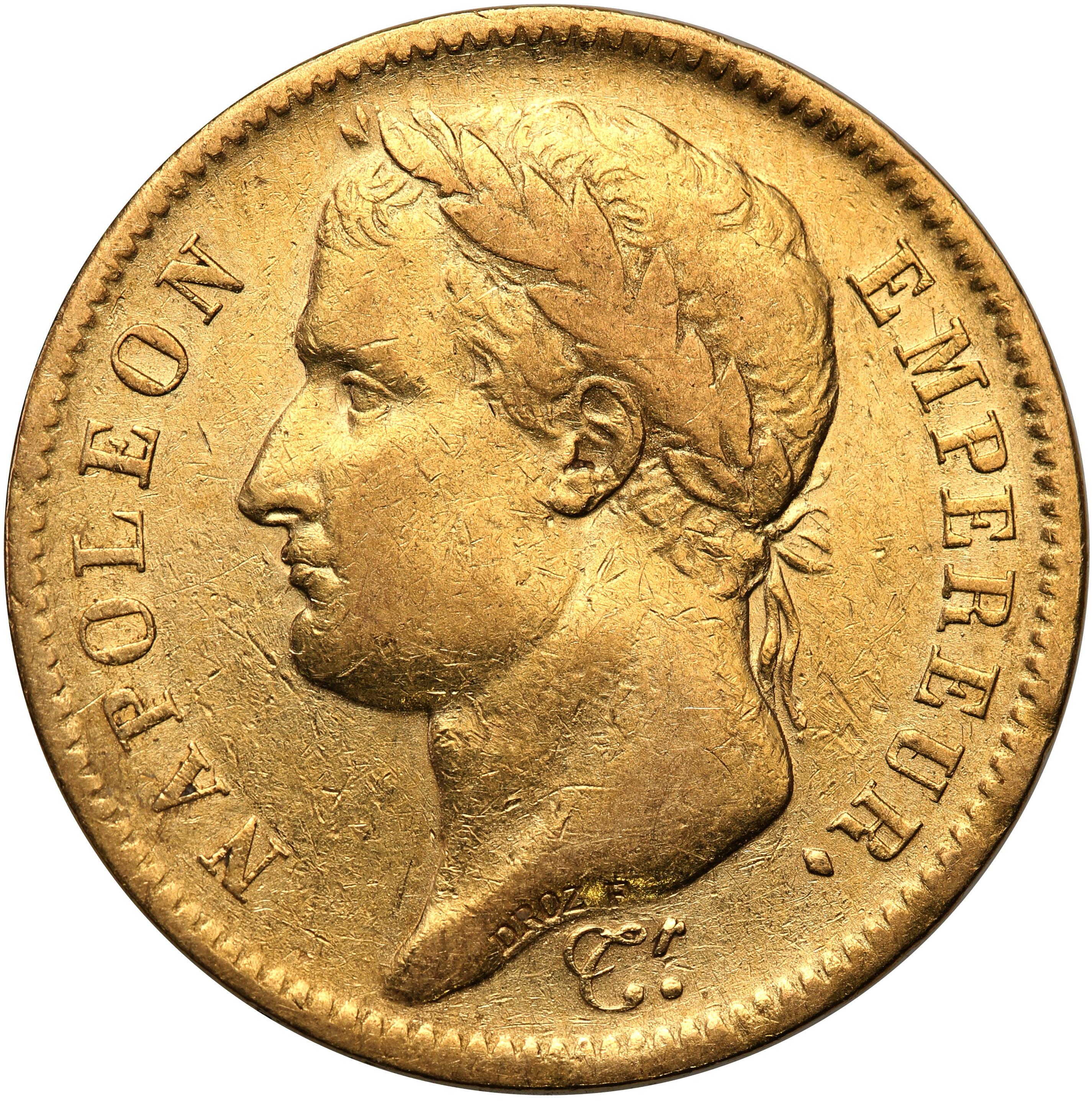 Francja. 40 franków 1811 A st.3+