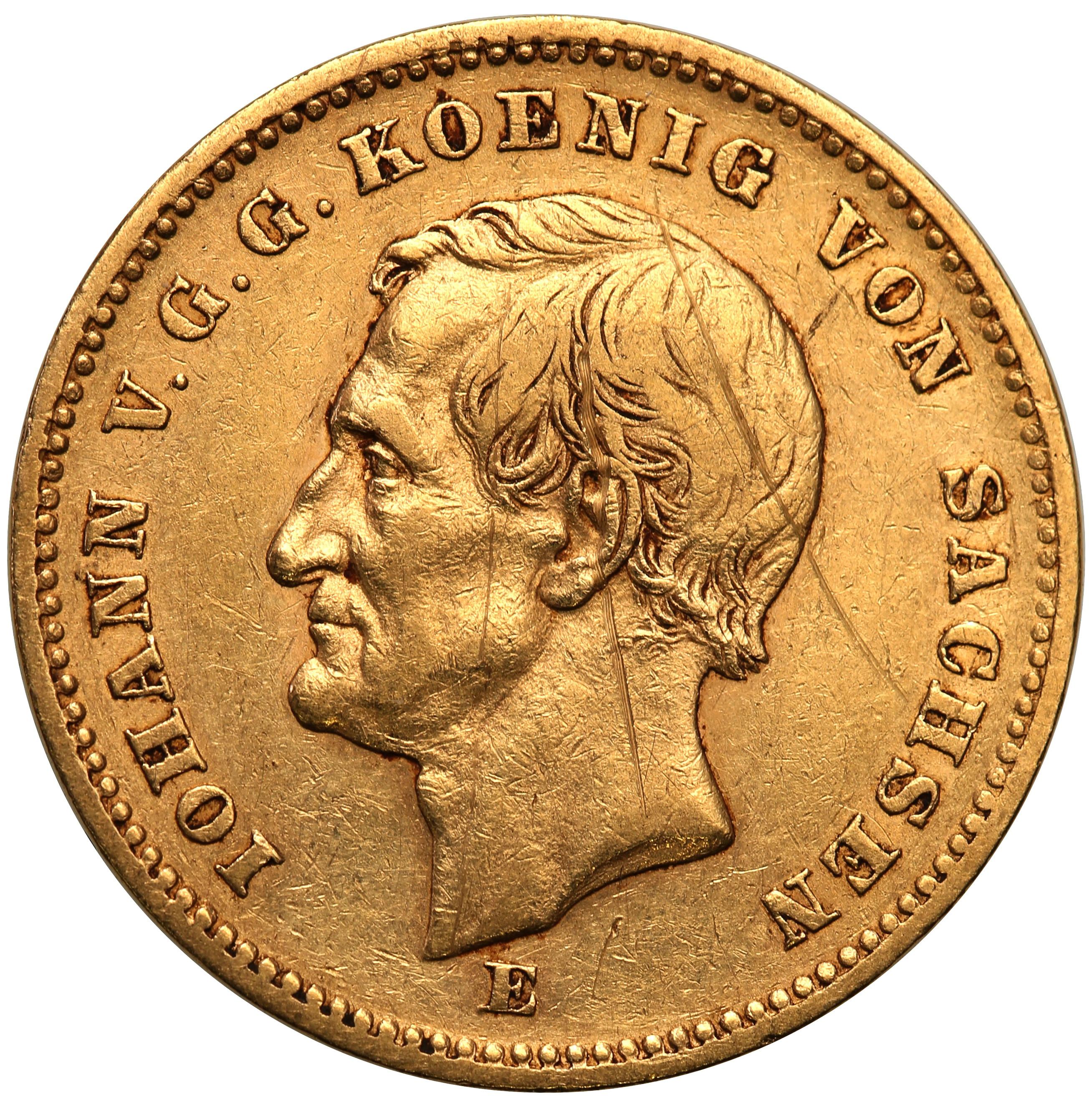 Niemcy. Saksonia Johan V. 20 Marek 1872 E - Drezno st.3+