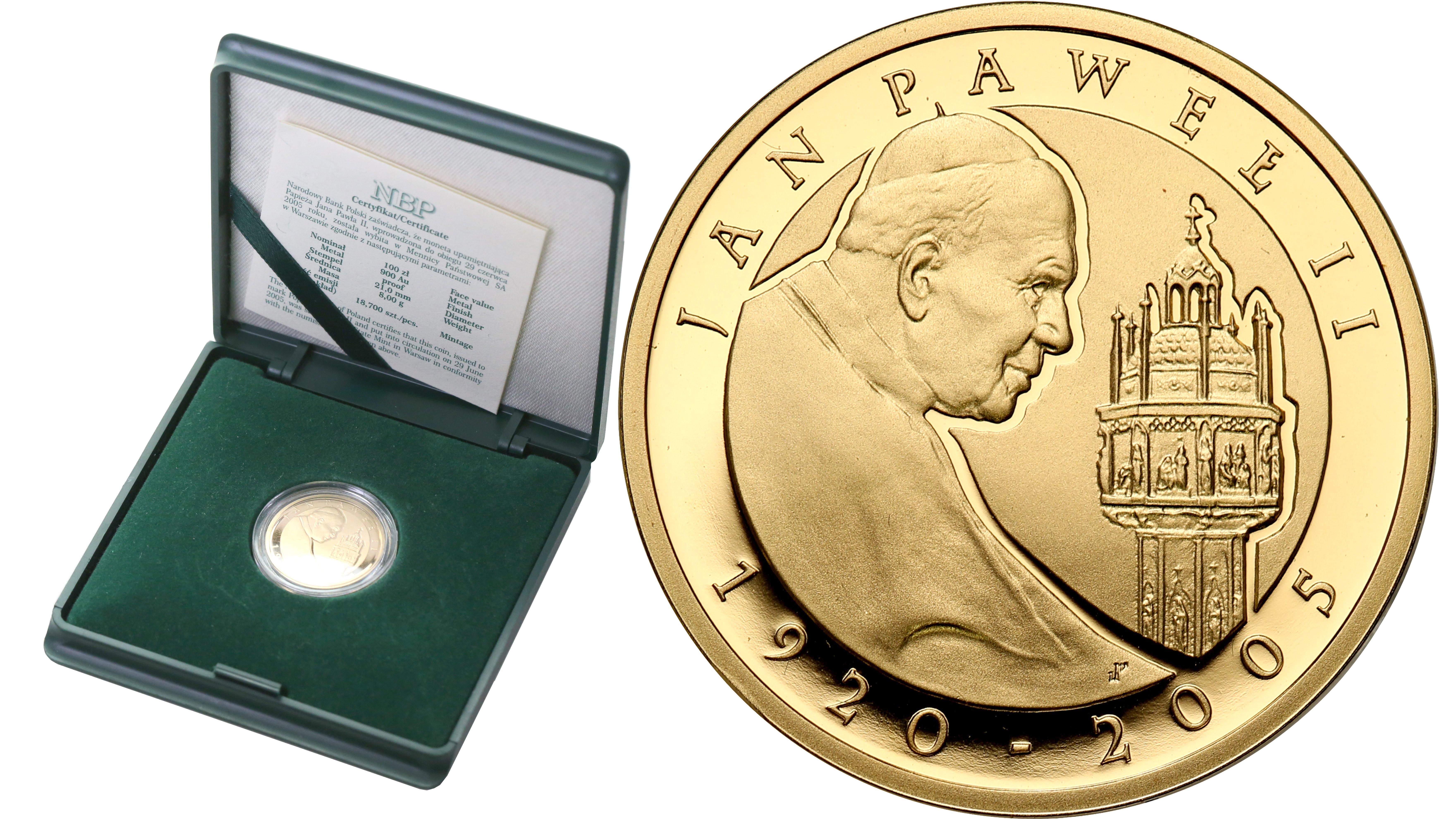 Polska III RP 100 złotych 2005 Jan Paweł II