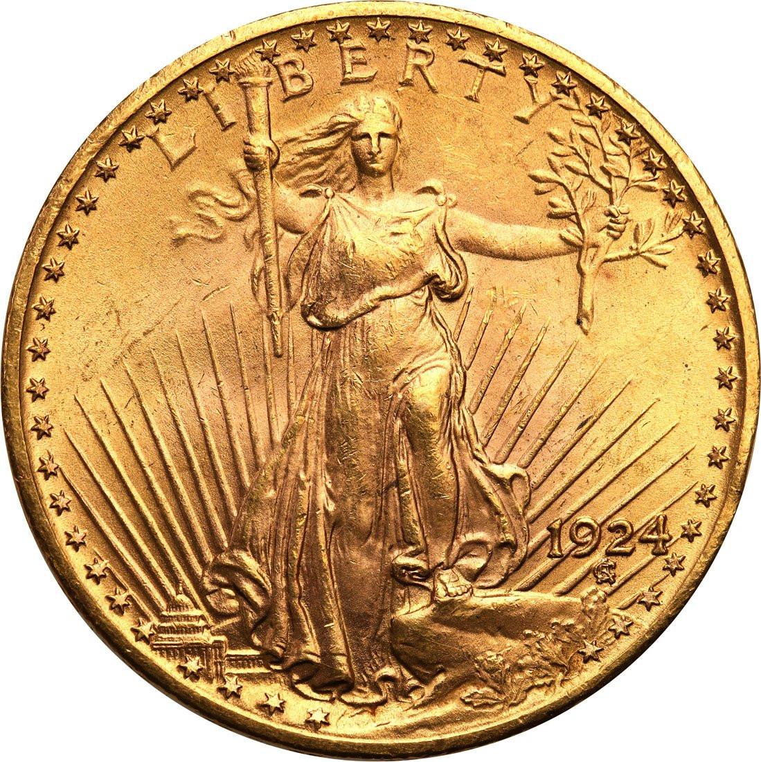 USA. 20 dolarów Saint Gaudens 1924