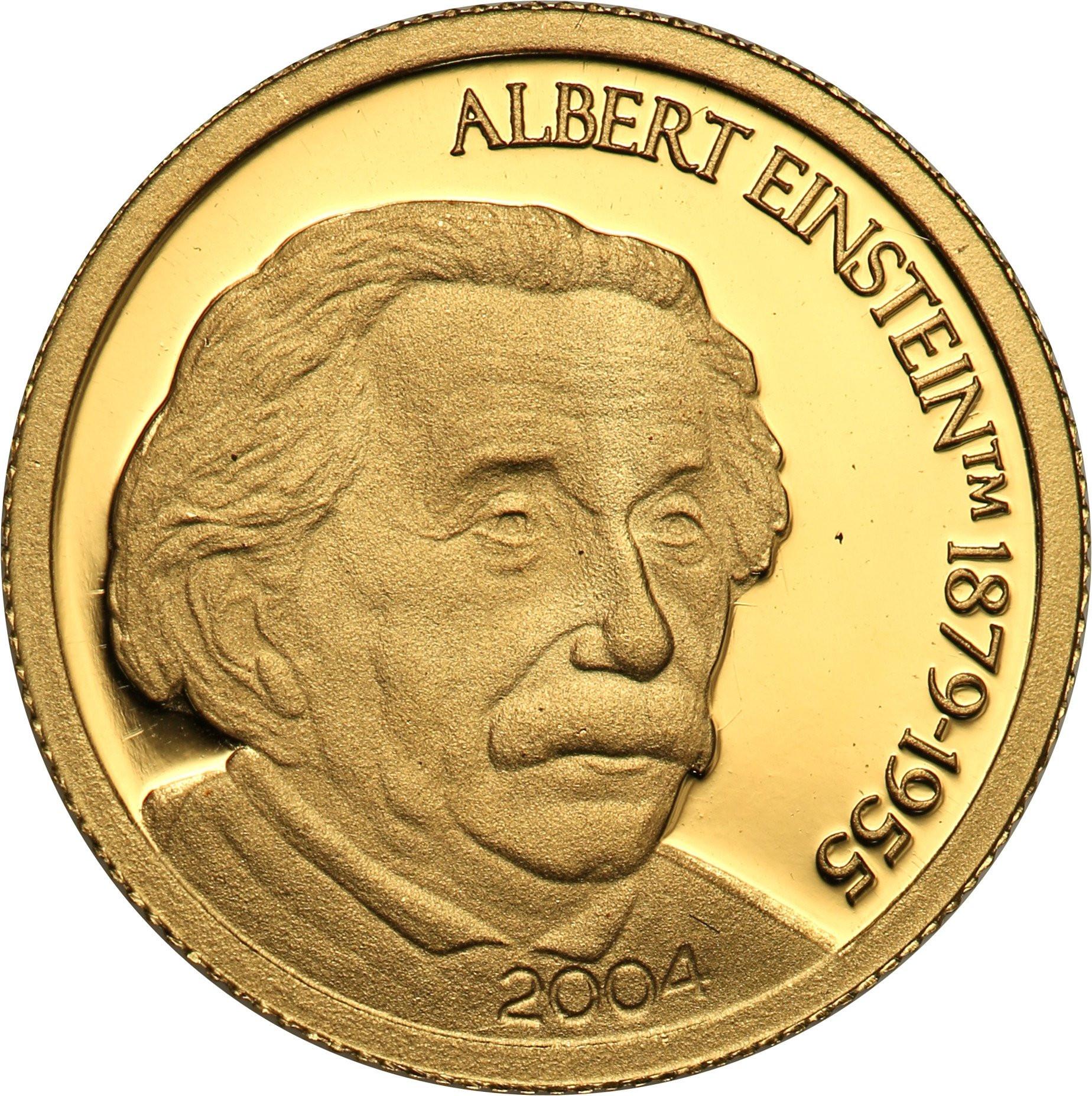 Mariany Północne. 5 dolarów 2004 Albert Einstein