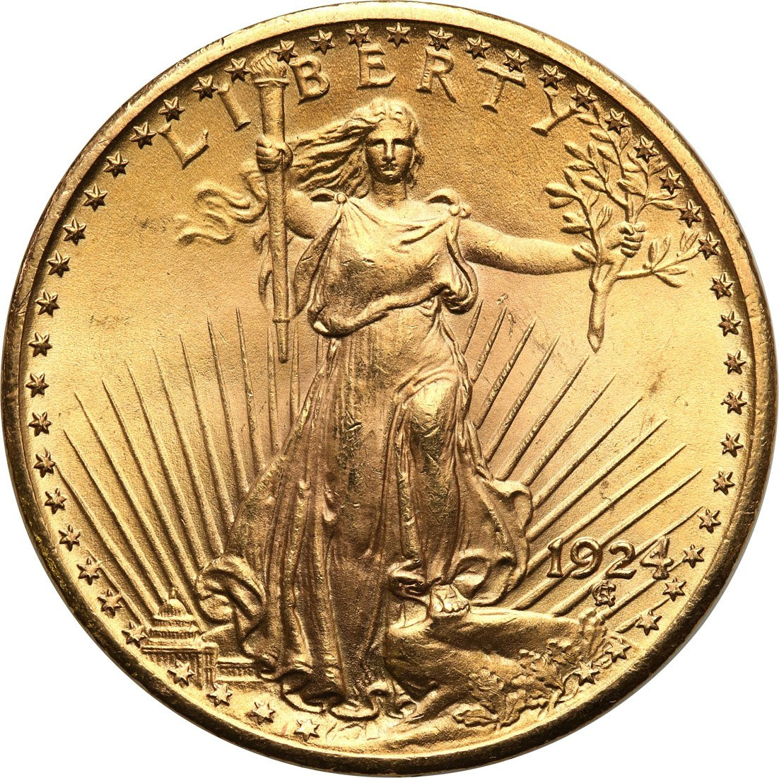 USA. 20 $ dolarów St. Gaudens 1924