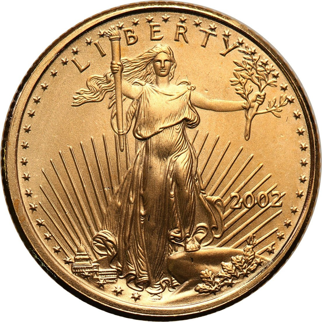 USA 5 $ dolarów 2002 (1/10 uncji złota)