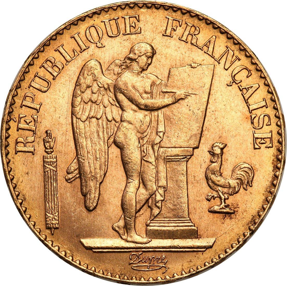 Francja III Republika. 20 franków 1896 A-Paryż - ANIOŁ