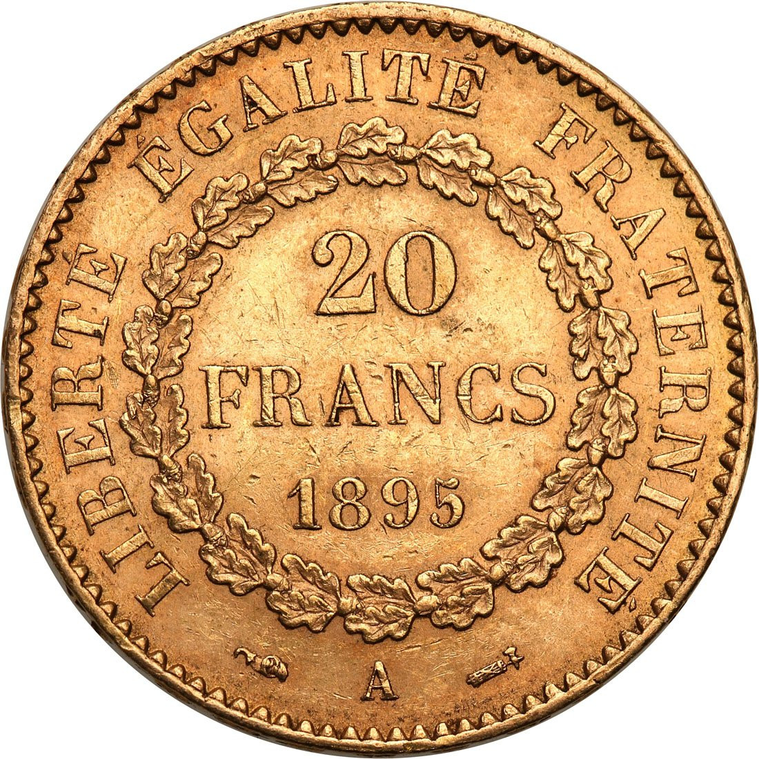 Francja III Republika. 20 franków 1895 A-Paryż - ANIOŁ