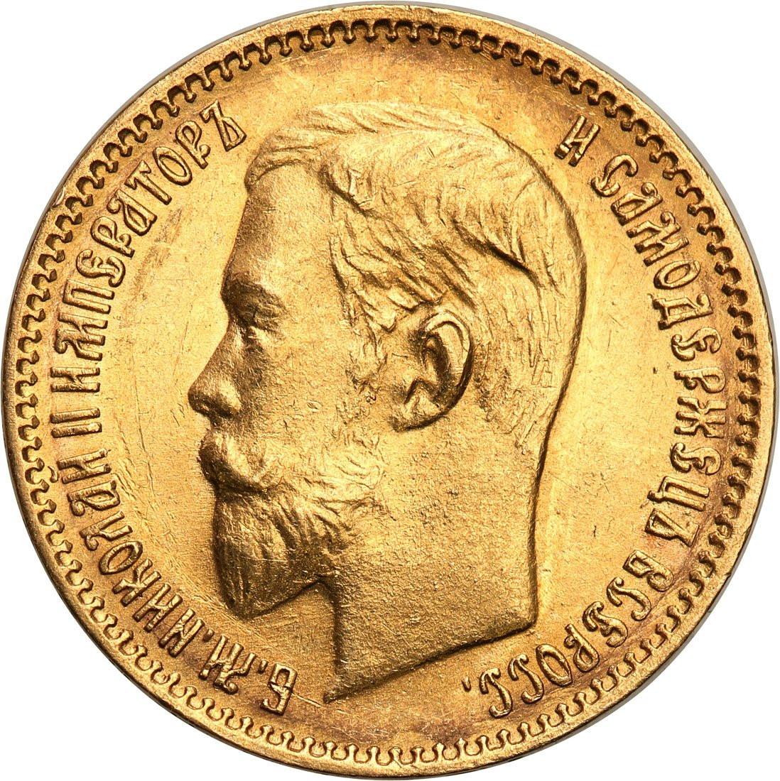 Rosja. Mikołaj II. 5 rubli 1903 (AP), Petersburg