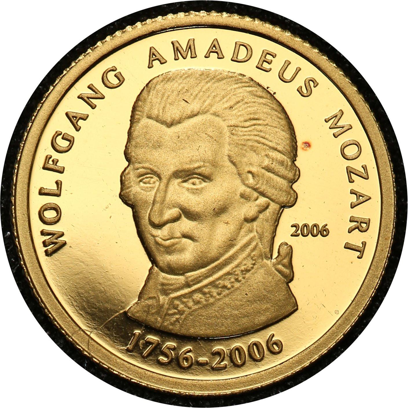 Republika Togijska 1500 franków 2006 Wolfgang Amadeusz Mozart