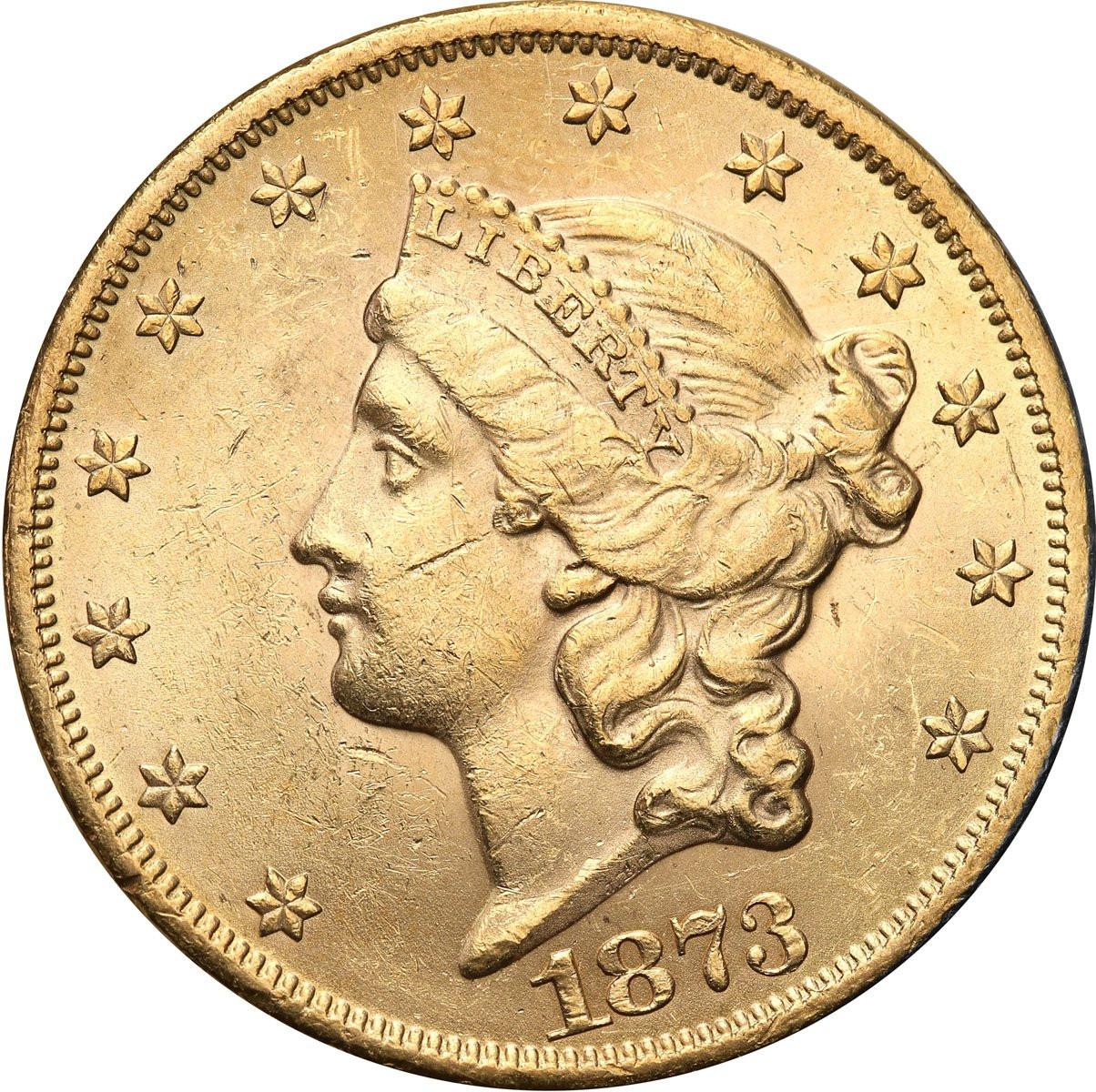 USA 20 dolarów 1873 TWENTY D Philadelphia st. 1-