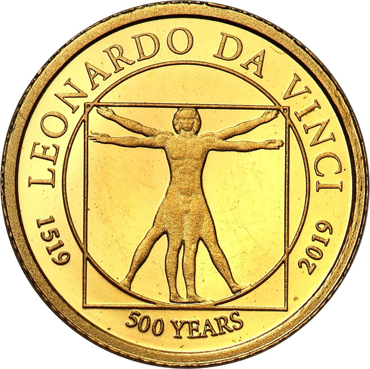 Niue 2 1/2 dolara 2019 Leonardo da Vinci st. L