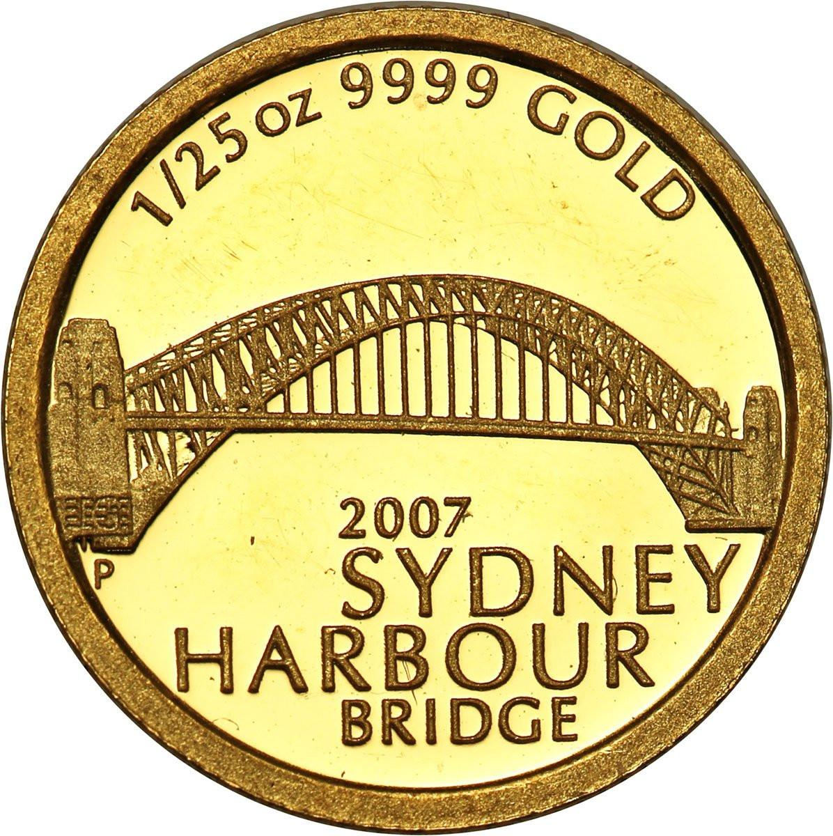 Australia 5 dolarów 2007 (1/25 uncji Au) st. l