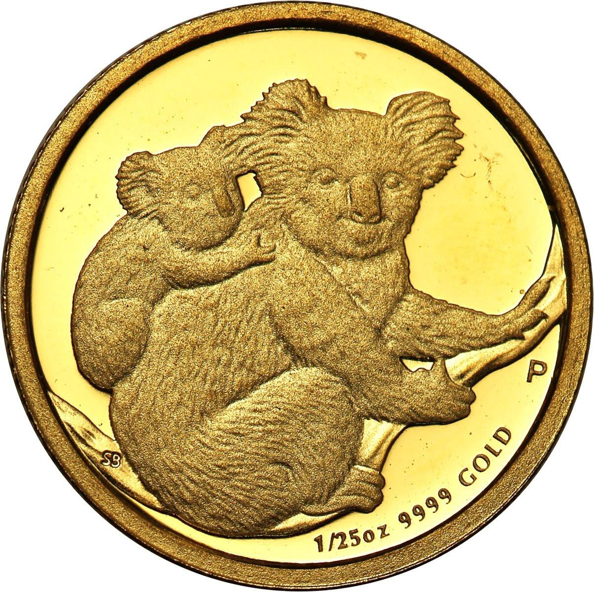Australia 5 dolarów 2008 (1/25 uncji Au) st. l