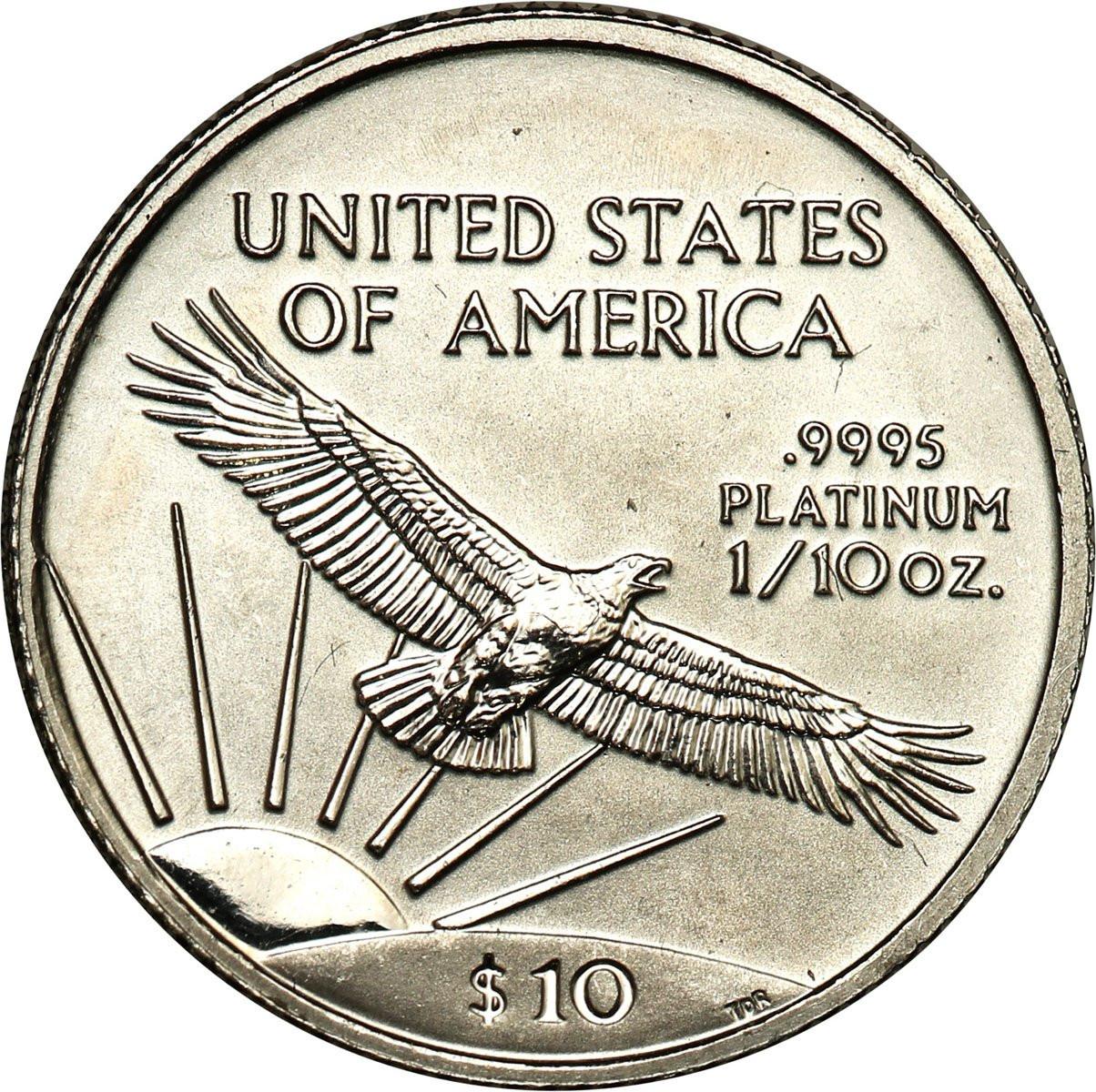 USA 10 dolarów 1999 Platyna (1/10 uncji Pt) st. 1