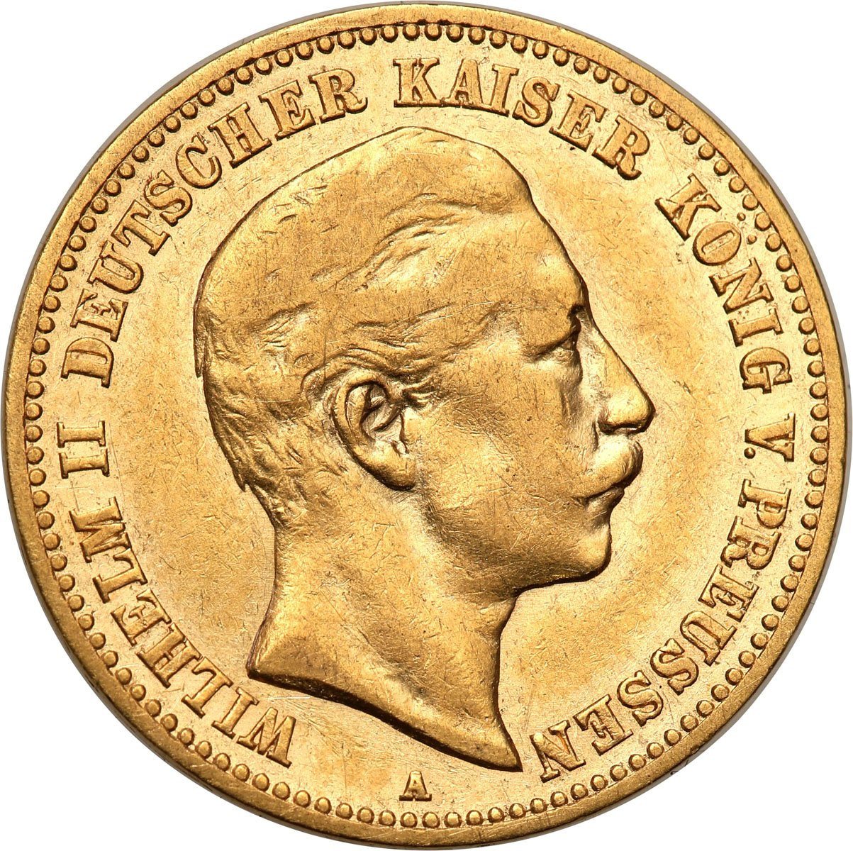 Niemcy Prusy 10 Marek 1890 A wilhelm II st. 2-