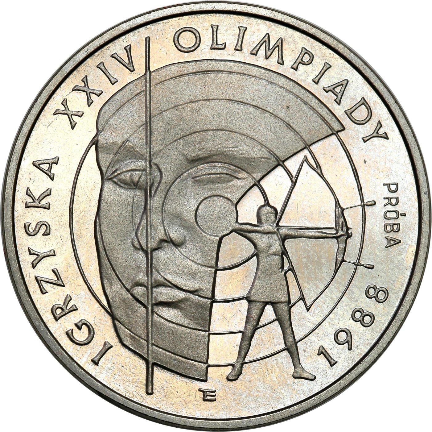PRL. PRÓBA Nikiel 1000 złotych 1987 – Igrzyska XXIV Olimpiady