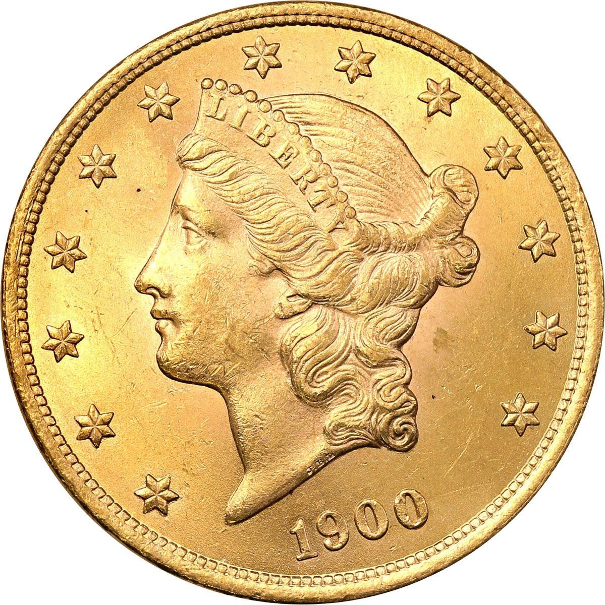 USA 20 $ dolarów 1900 Filadelfia Liberty