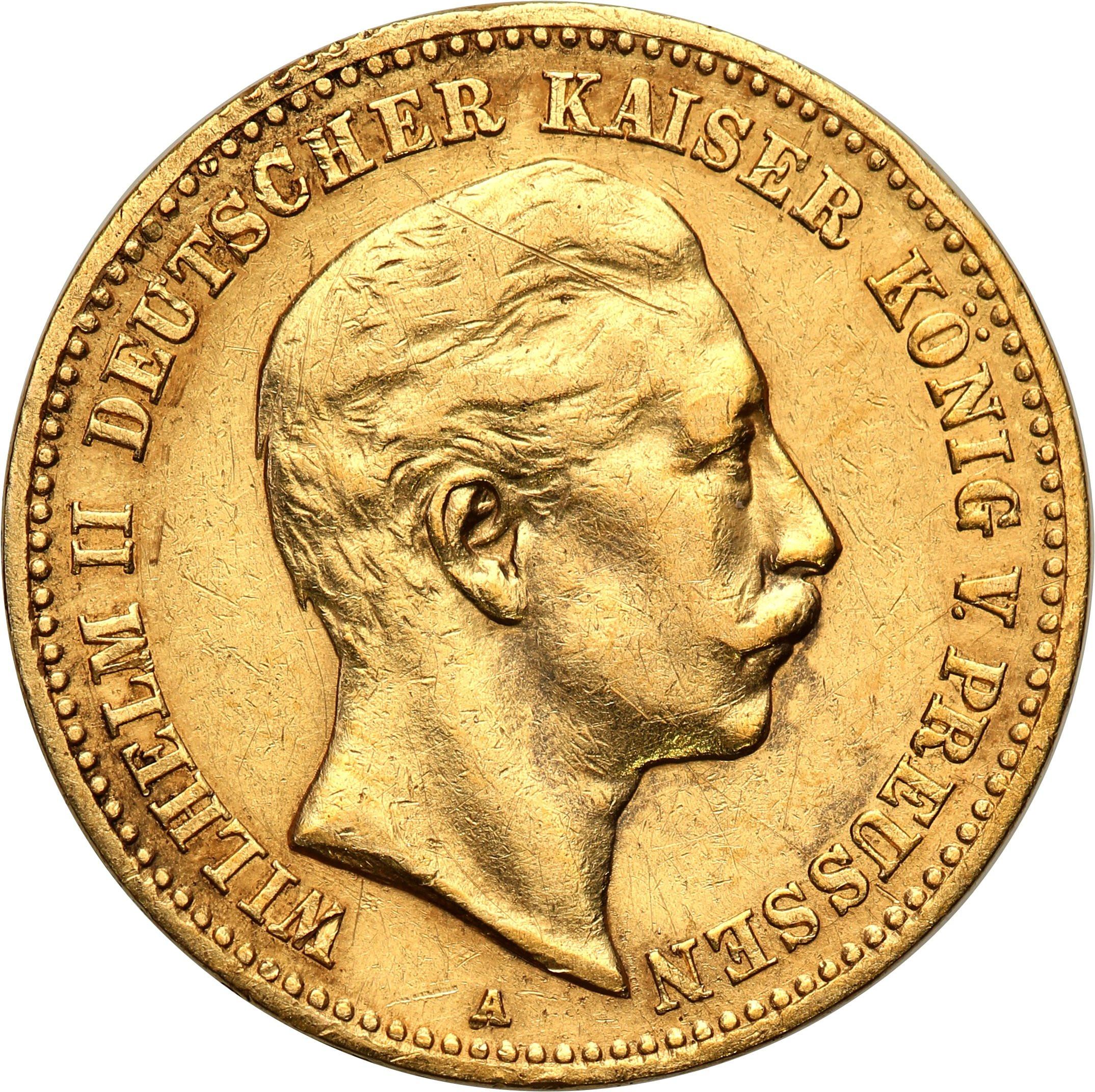 Niemcy Prusy 10 Marek 1901 A st.2-