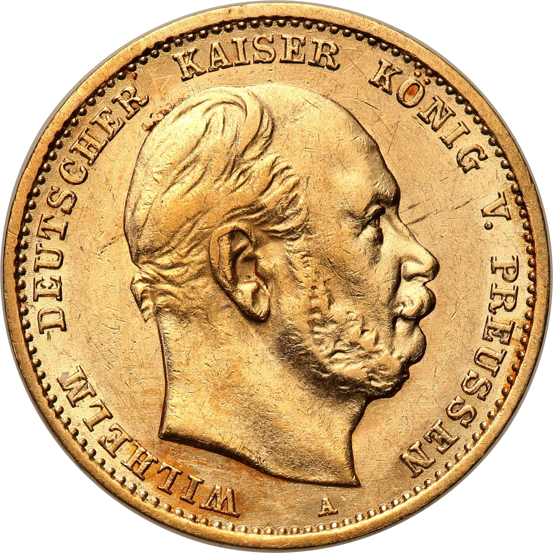 Niemcy Prusy Wilhelm I 10 marek 1878 A st. 2+