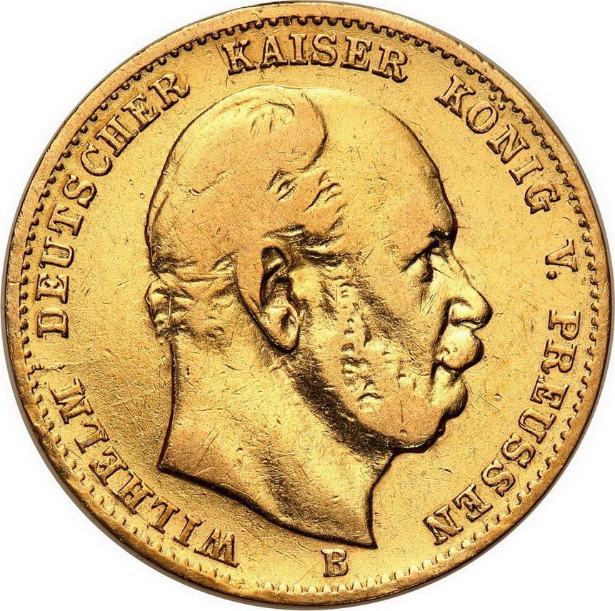 Niemcy Prusy Wilhelm I 10 Marek 1872 B