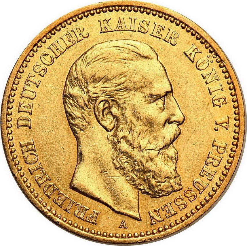 Niemcy Prusy Friedrich III 10 Marek 1888 A st.2+
