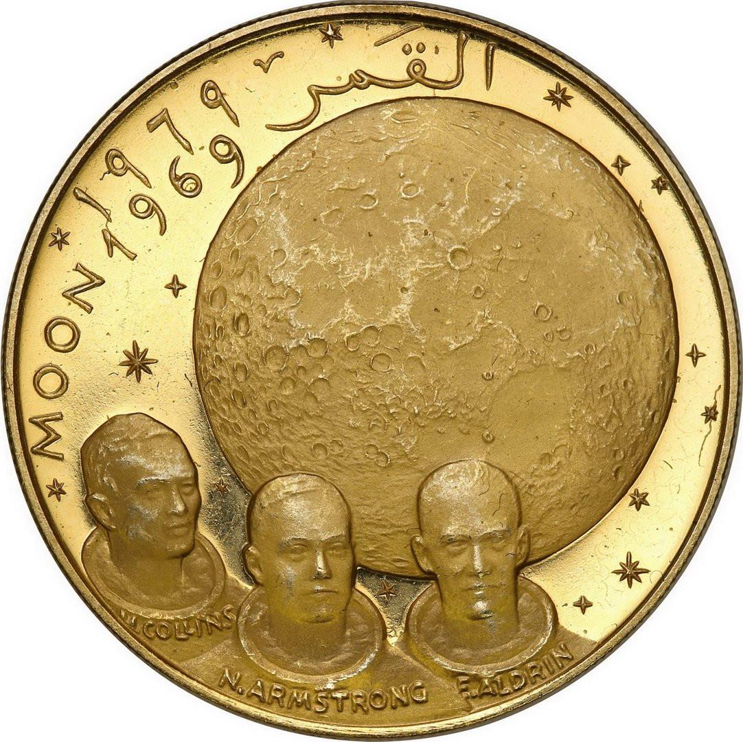 Fujairah Zjednoczone Emiraty Arabskie. 100 Riyals AH 1388 (1969) Apollo XI