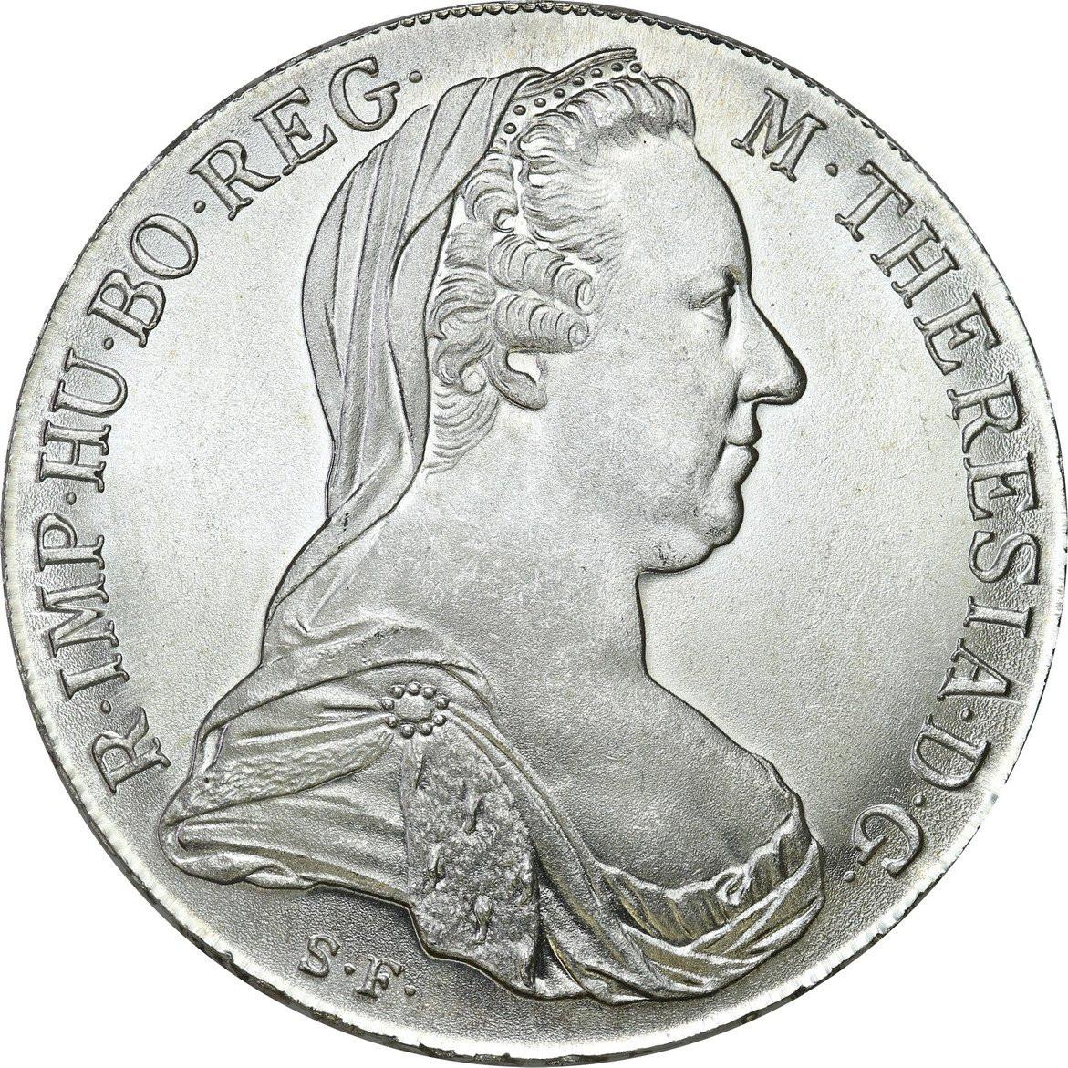 Austria TALAR 1780 Maria Teresa (NOWE BICIE) SREBRO
