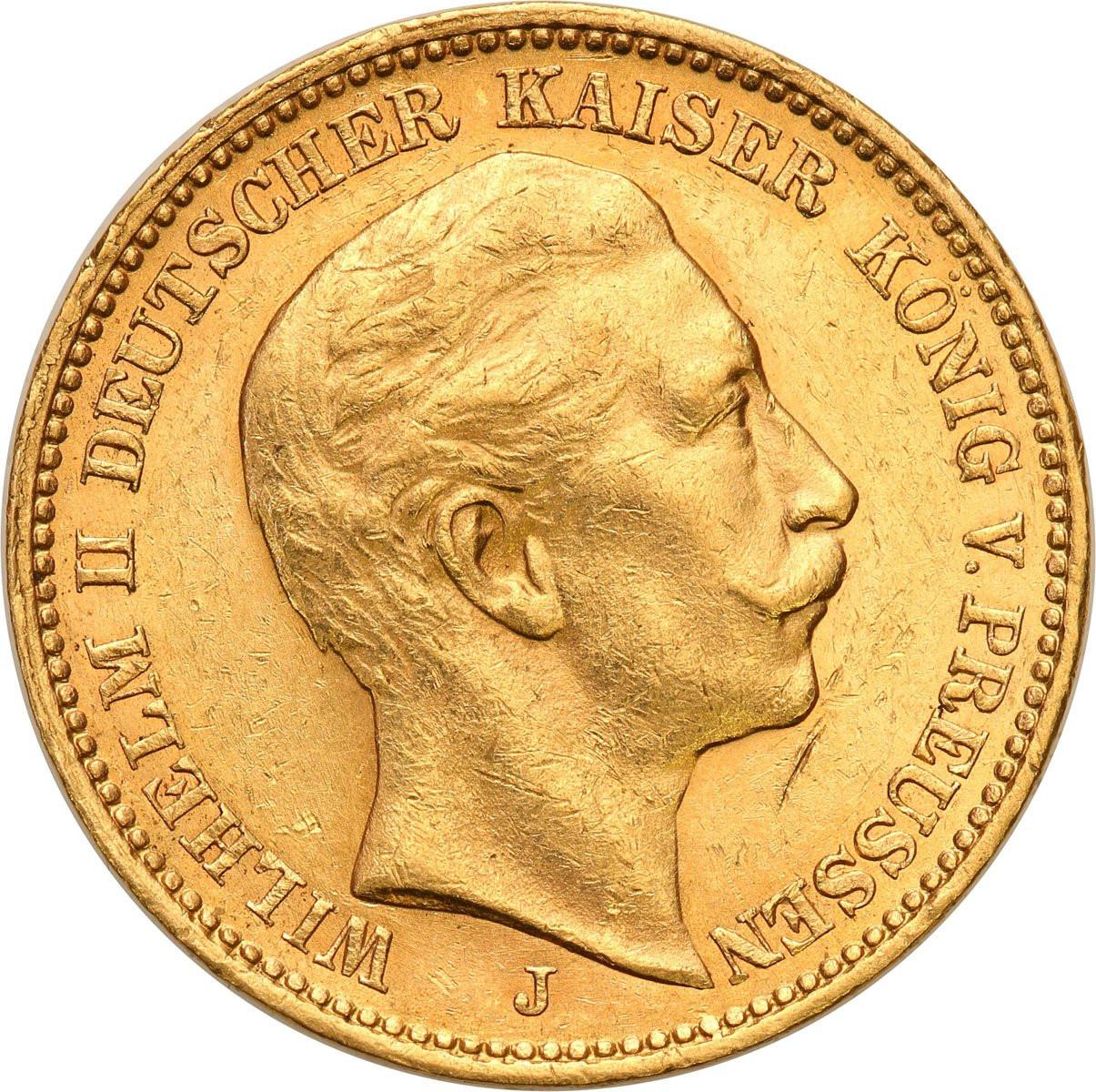 Niemcy, Prusy. Wilhelm II. 20 Marek 1910 J, Hamburg
