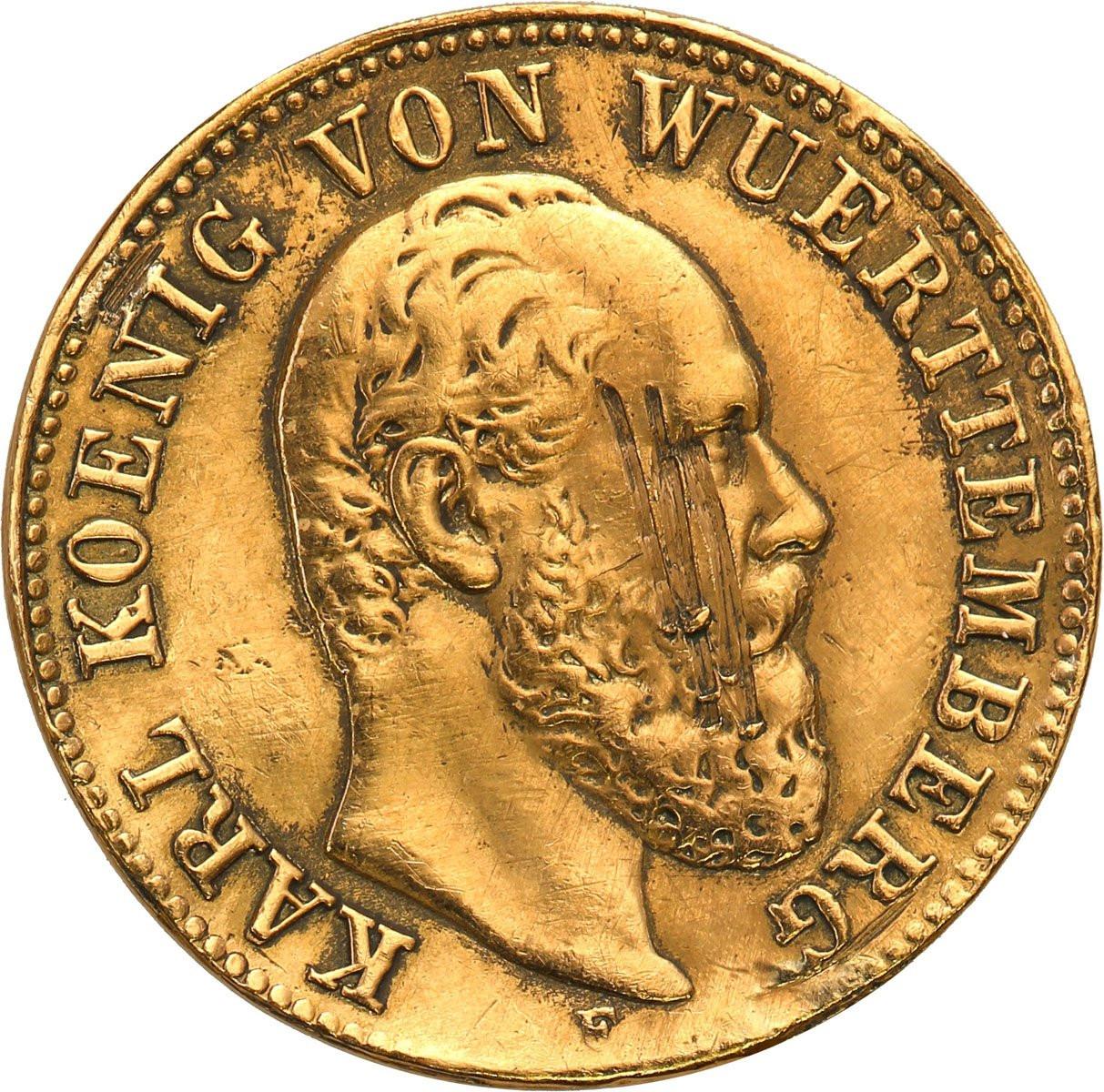 Niemcy, Wirtembergia. Karol I. 5 marek 1877 F, Stuttgart