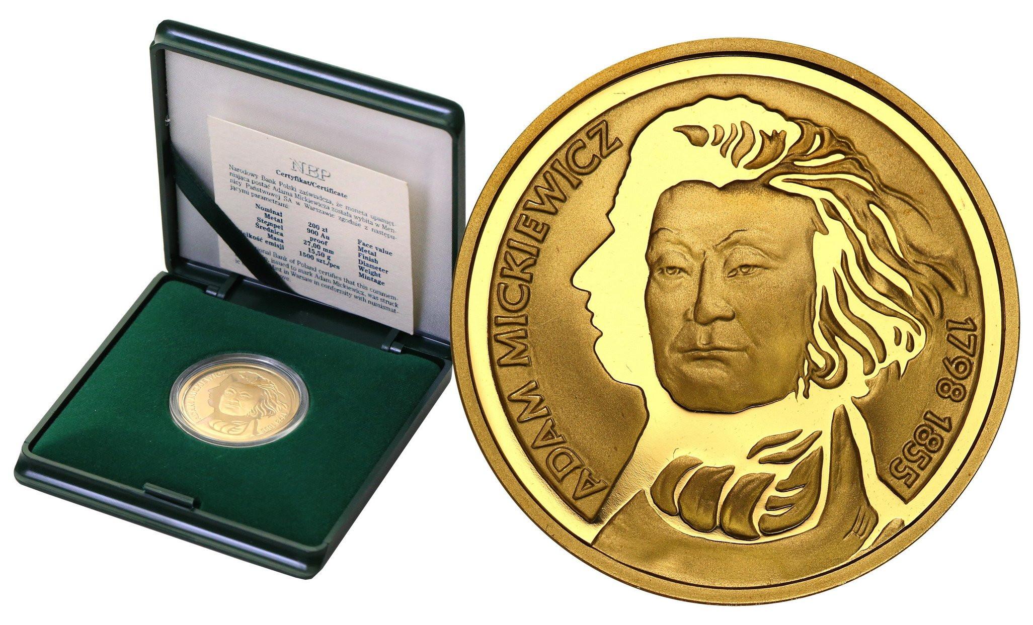 III RP 200 złotych 1998 Adam Mickiewicz