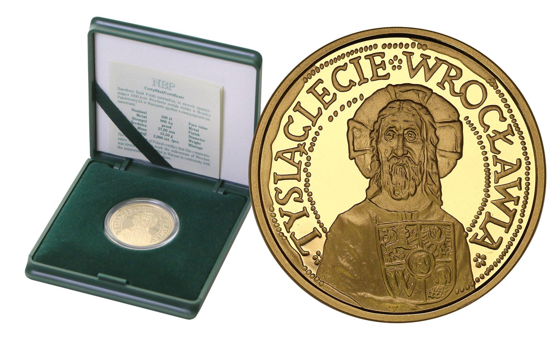 200 złotych 2000 1000-lecia Wrocławia