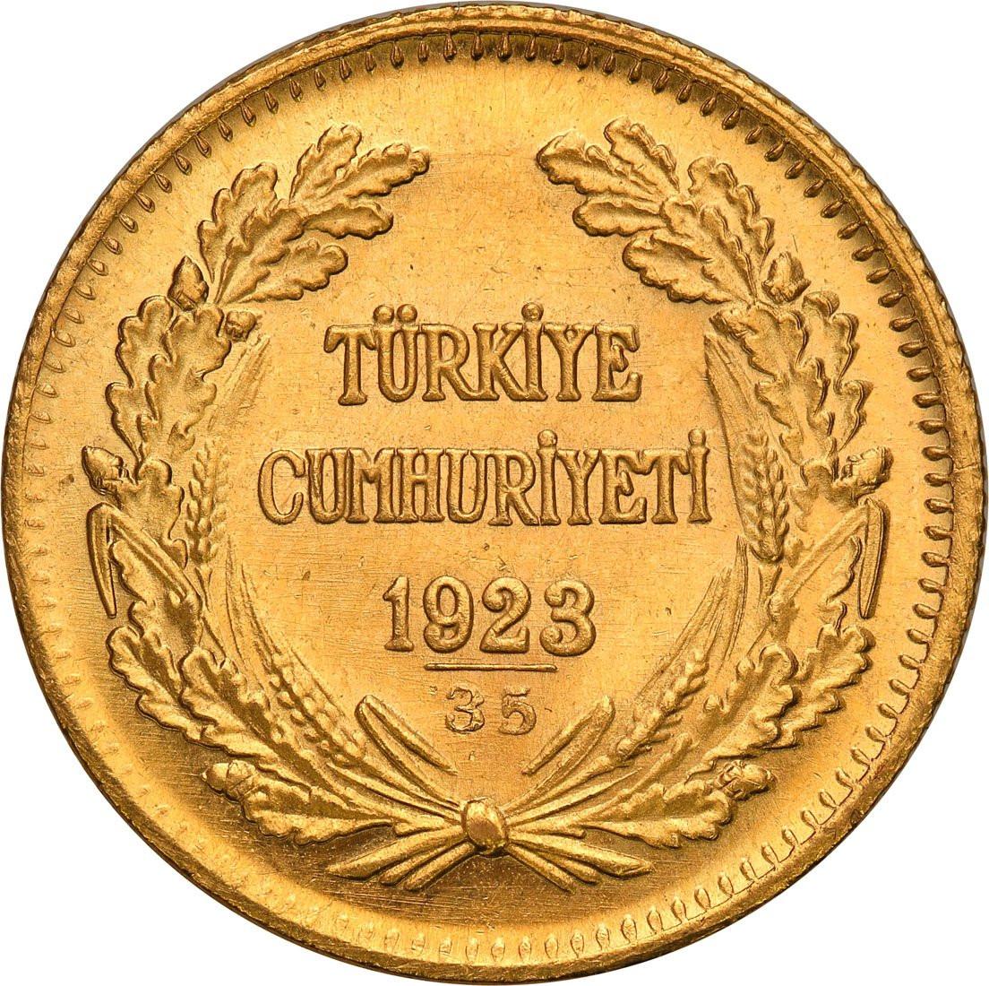 Turcja 100 piastrów 1958 (1923 + 35)