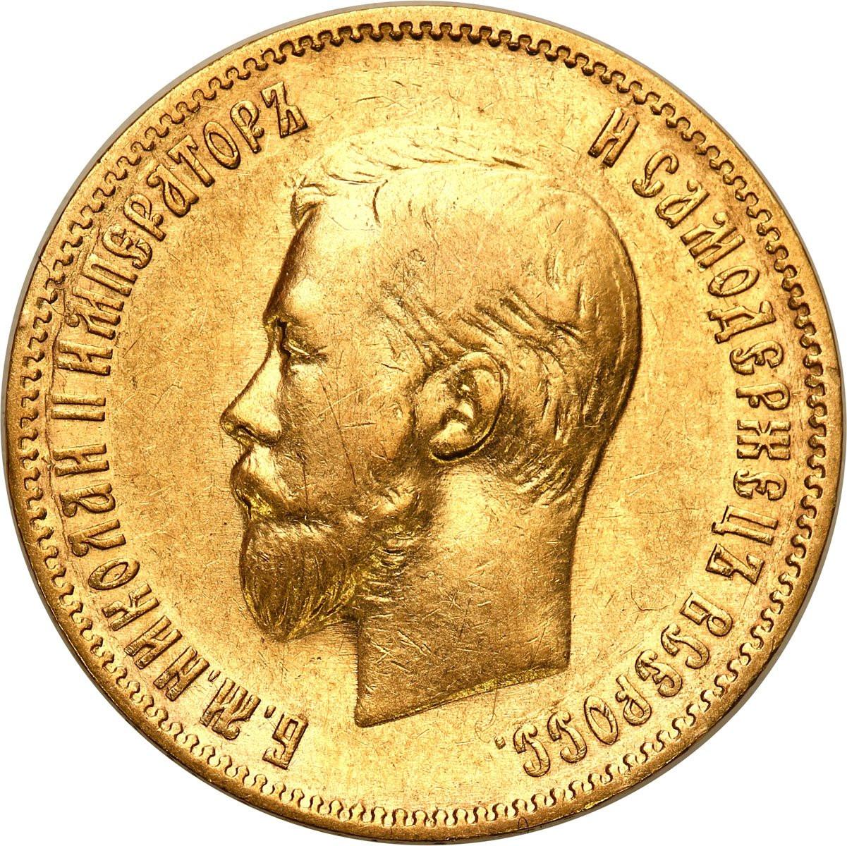 Rosja. Mikołaj II. 10 Rubli 1902 AP, Petersburg