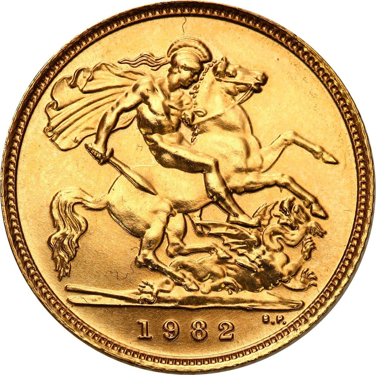 Wielka Brytania 1/2 suwerena 1982 Elżbieta II