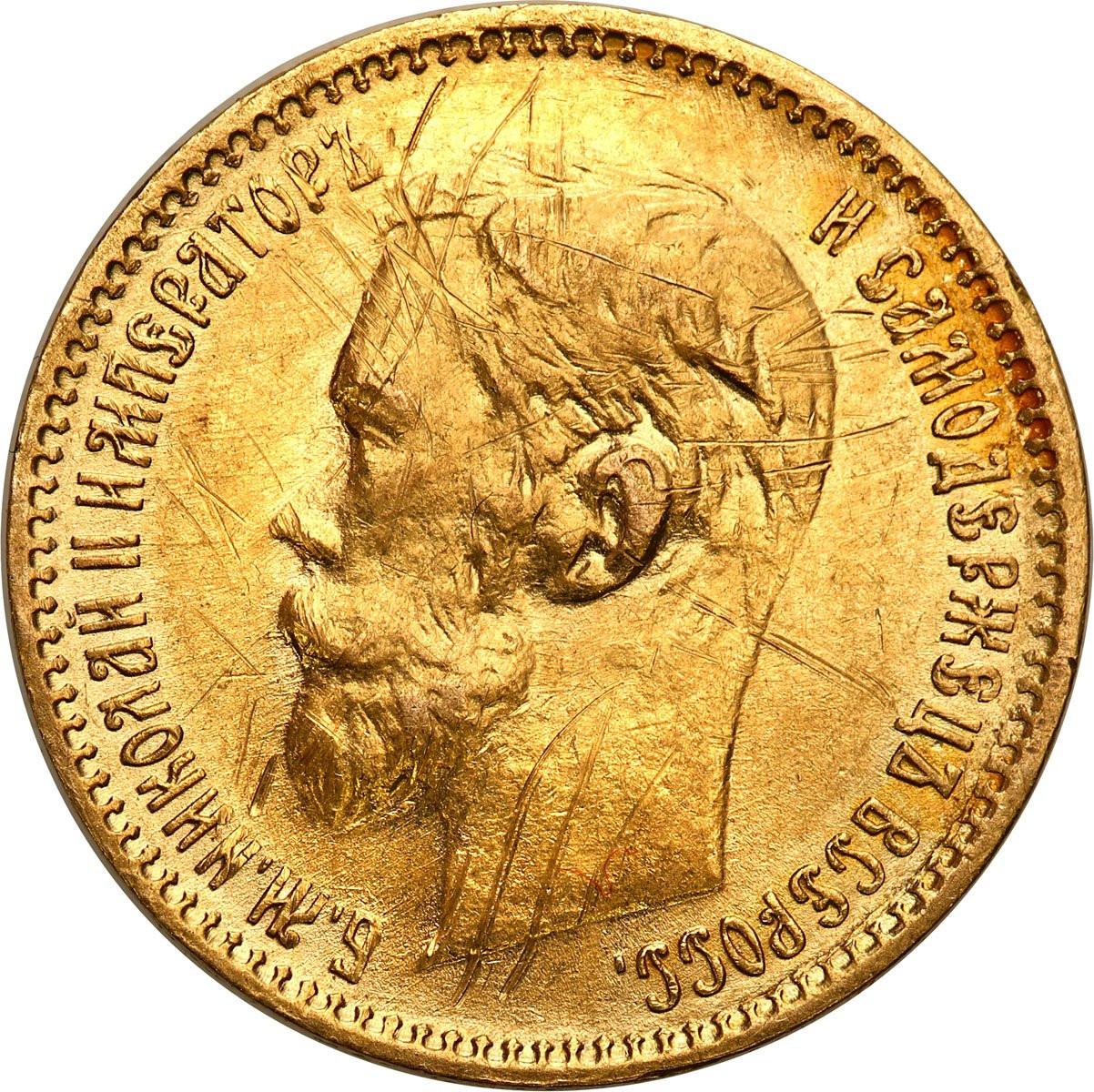 Rosja. Mikołaj II 5 rubli 1901 AP, Petersburg