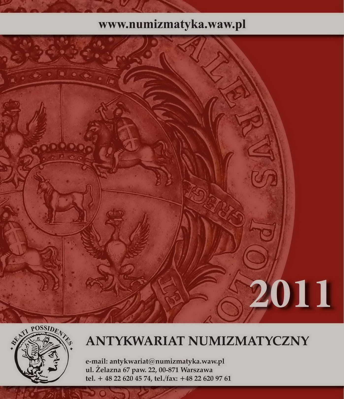 Kalendarz 2011 Antykwariat Numizmatyczny