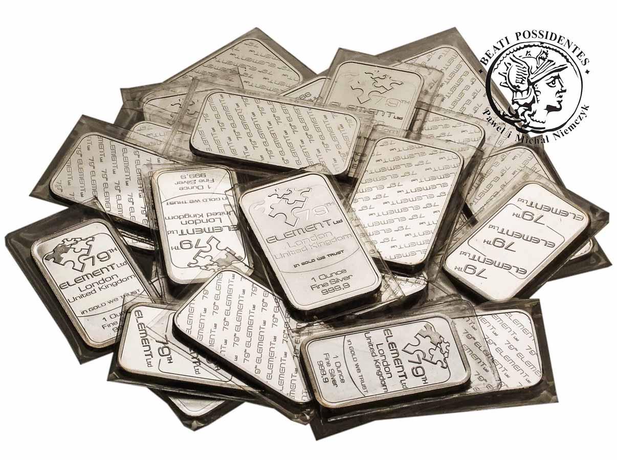 Sztabki, Monety - Uncja czystego srebra 999.9